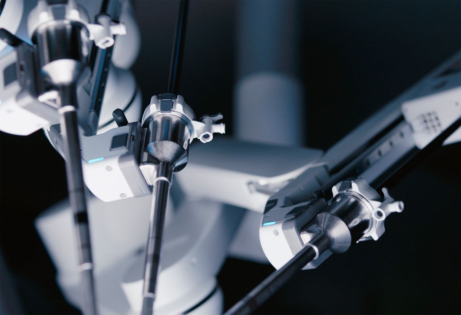 An image of a robotic surgery machine.