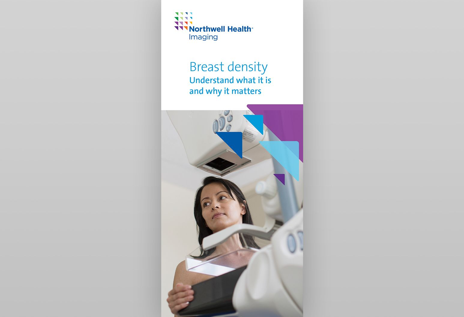 Cover of the brochure to learn more about breast density at Northwell Health.