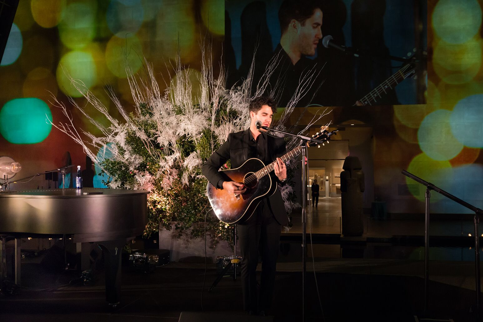 Darren Criss performs to more than 350 attendees at Northwell Health's Constellation Gala held at The Metropolitan Museum of Art in New York City.