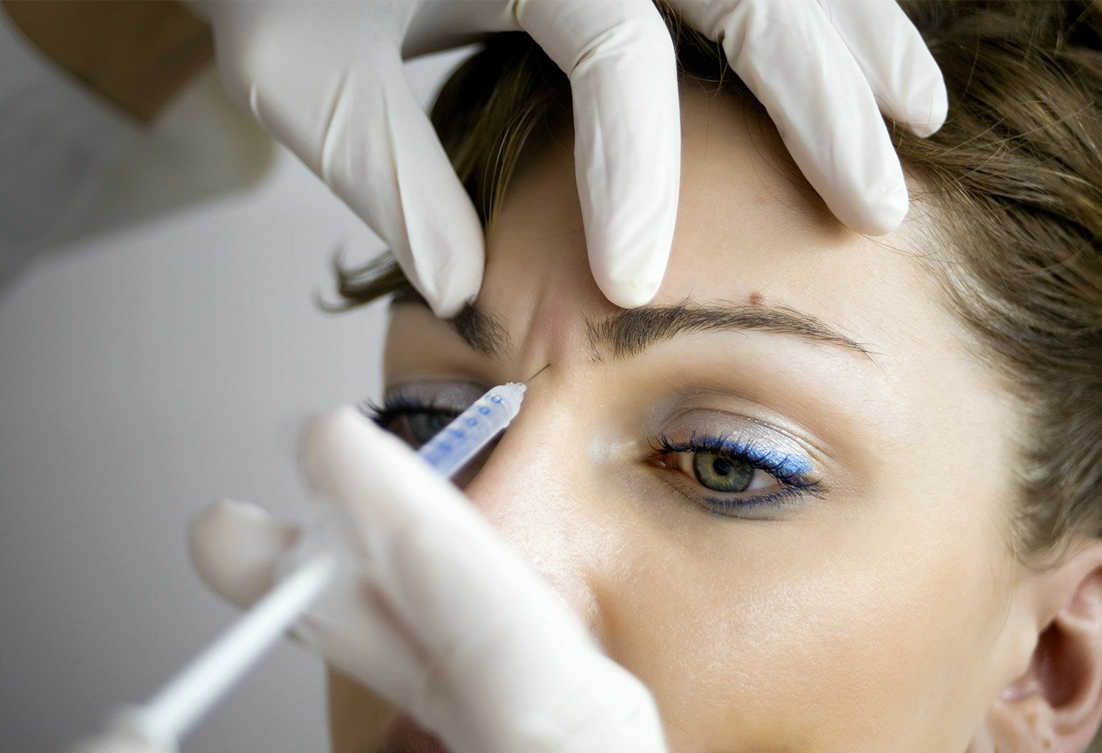 A woman having Botox injections