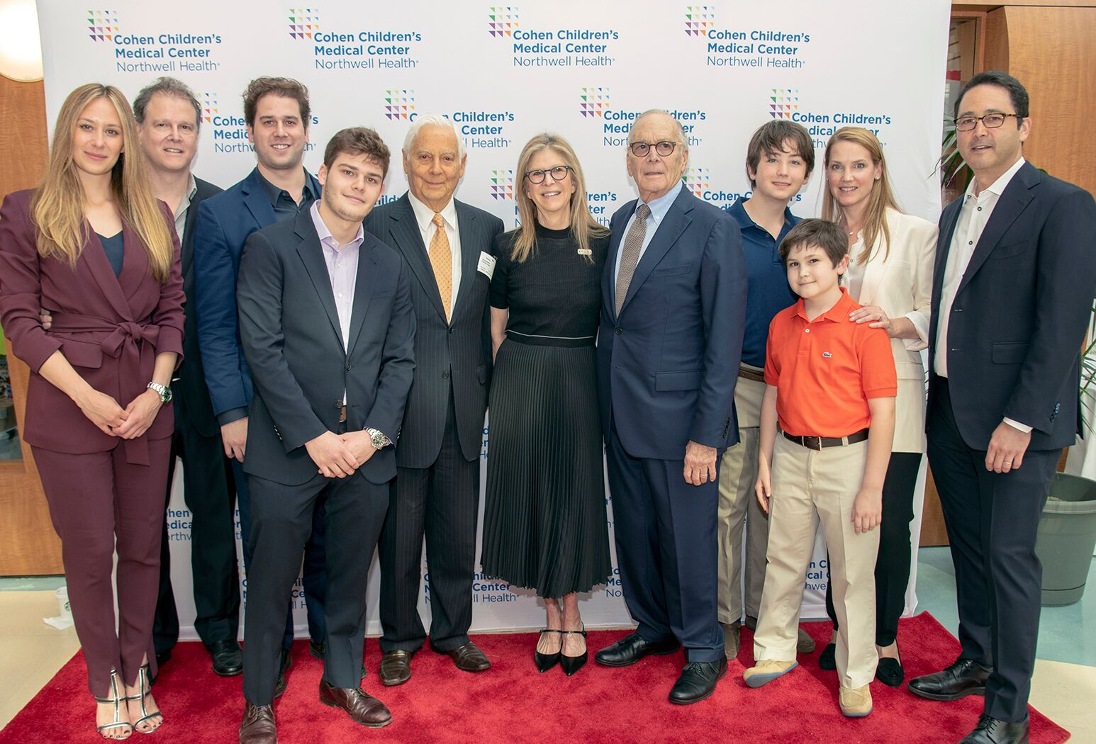 Northwell Health recently recognized the Blumenfeld family in honor of their lifetime giving to Cohen Children's Medical Center. The new Blumenfeld Family Pavilion was unveiled at a dedication ceremony held earlier this month.