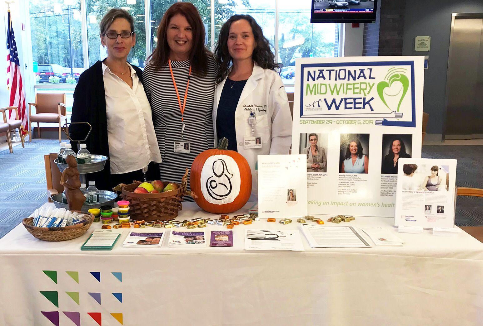 From left: Peconic Bay Medical Center's Julia Chachere, NP; Vandy Ferrer, CNM; and Elizabeth Morrison, CM.