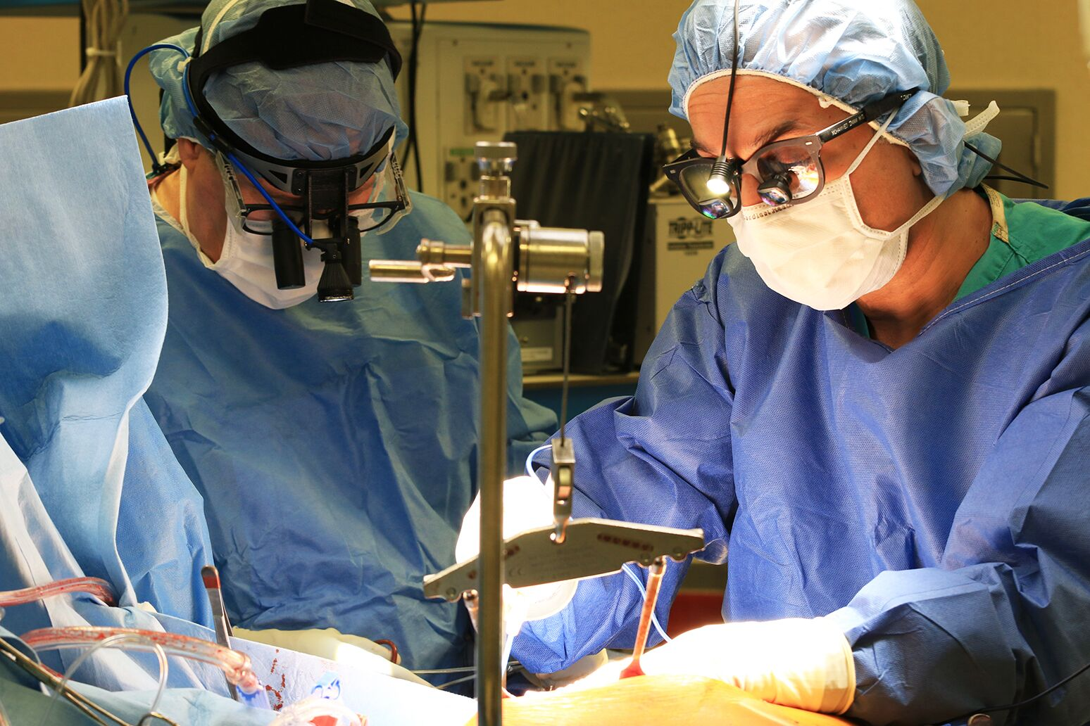 Dr. Mohammed Imam performs coronary artery bypass grafting at Staten Island University Hospital's The Heart Institute.