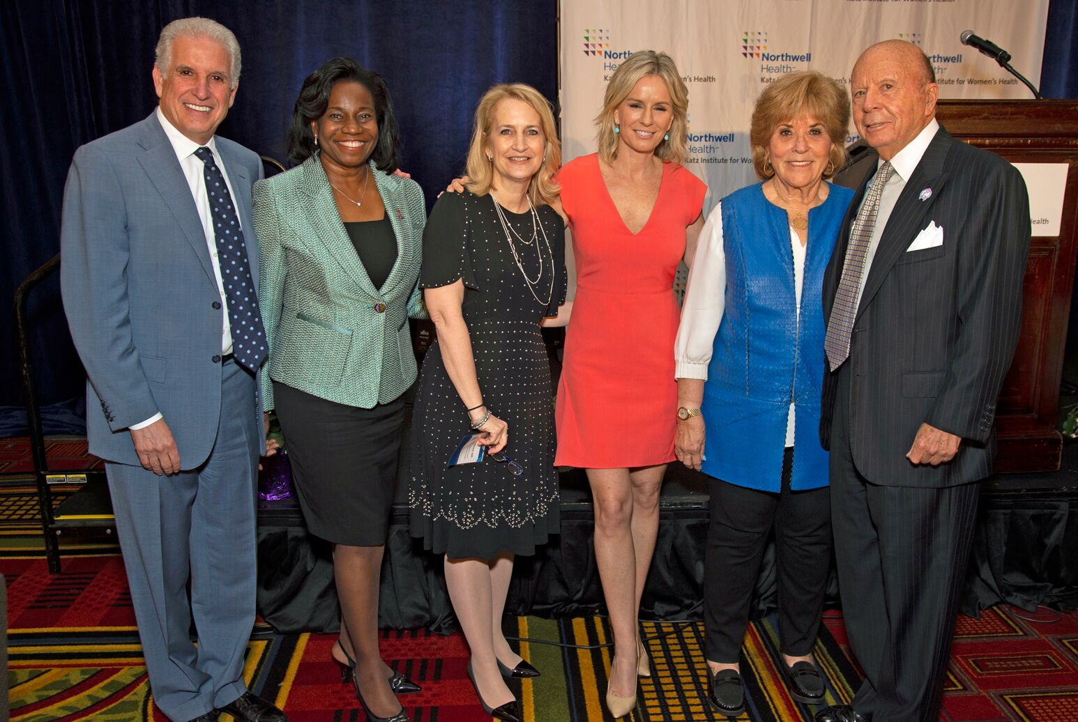 Mark Claster, Jenifer Mieres, Stacey Rosen with Saul Katz and others are the Katz Women's Health Conference