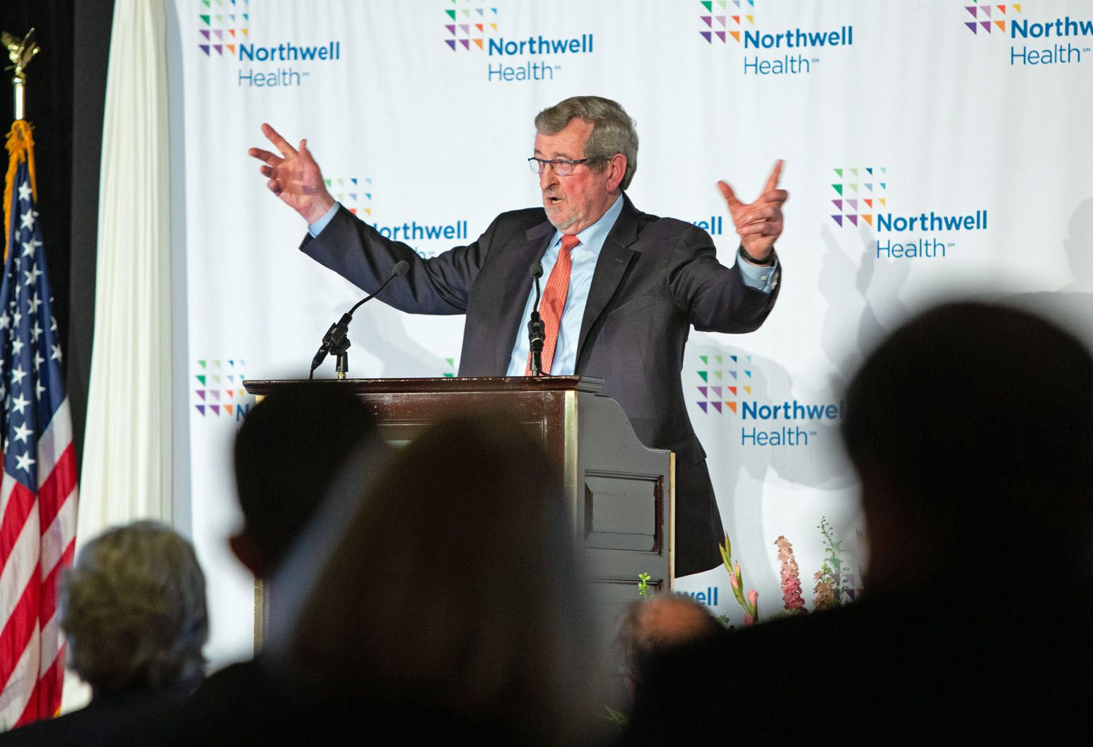 Michael Dowling, President and CEO speaks to the Board of Trustees at Northwell's annual meeting