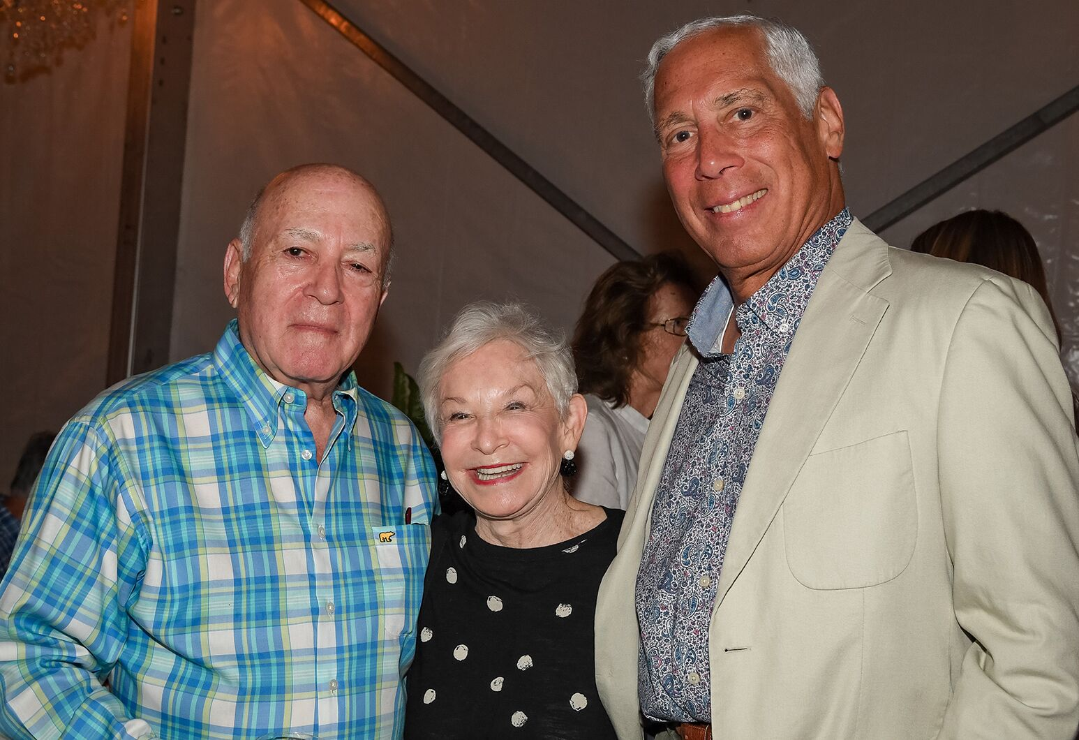 From left: Benefactors Leonard and Susan Feinstein with Michael Epstein, chair of the Northwell Health Board of Trustees.