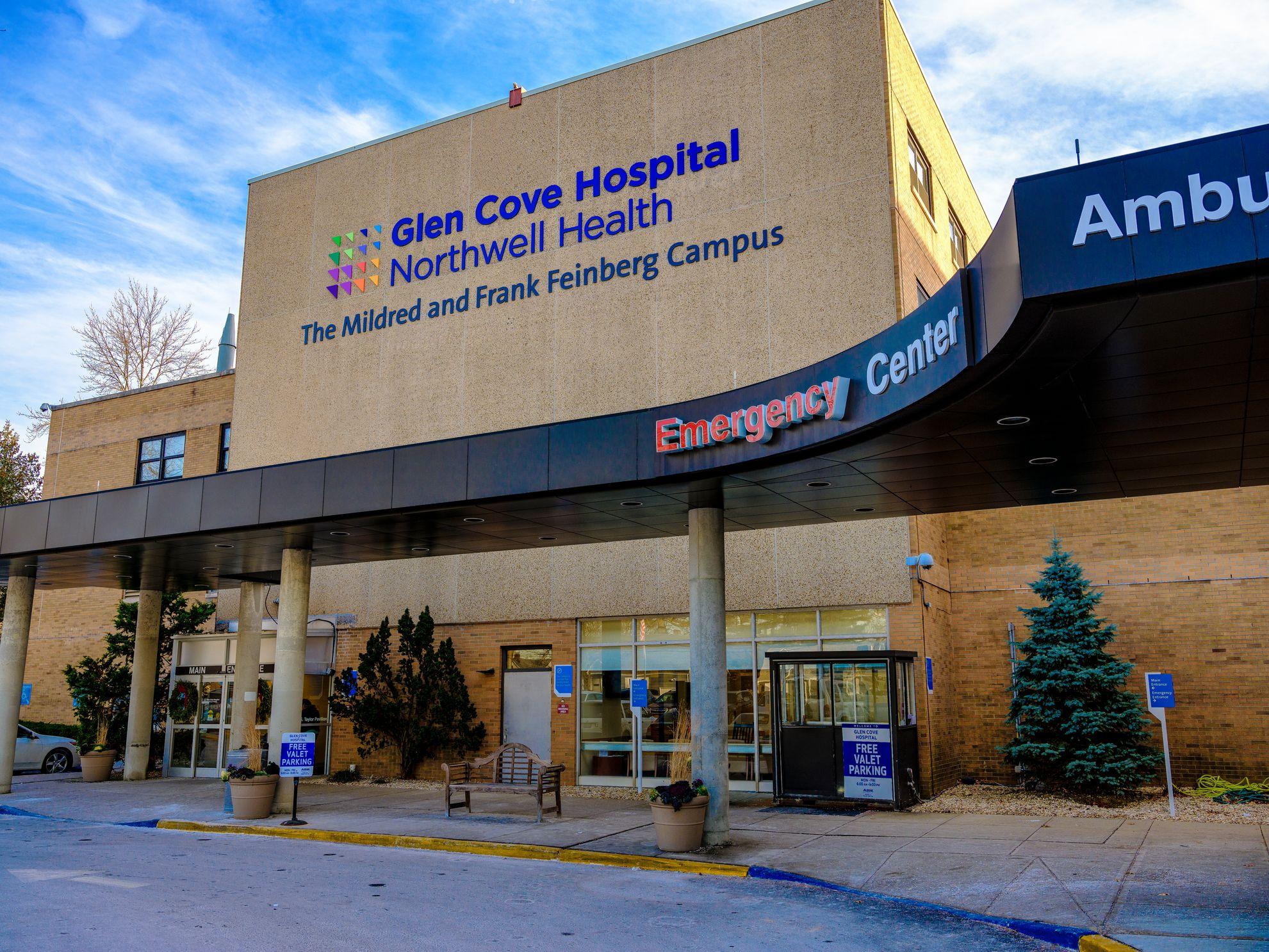 The outside of Glen Cove Hospital's Emergency Center