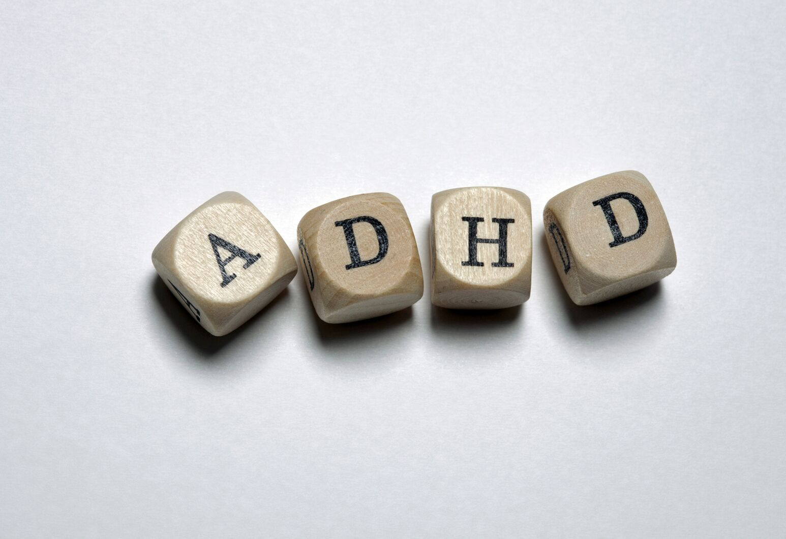 Letter blocks spell ADHD