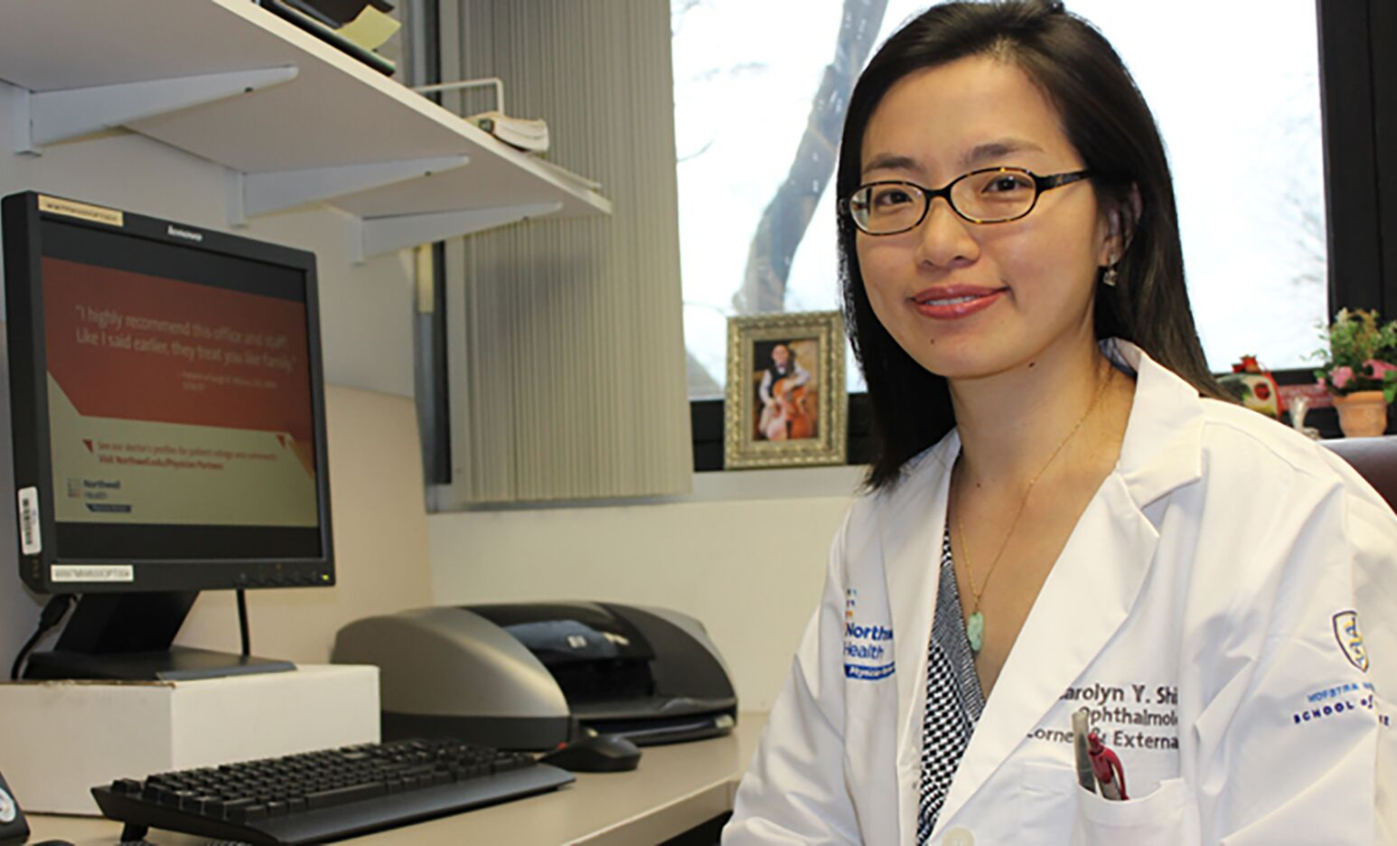 Carolyn Shih, MD, has performed countless cornea transplants, including DMEK on Robert Sohovich