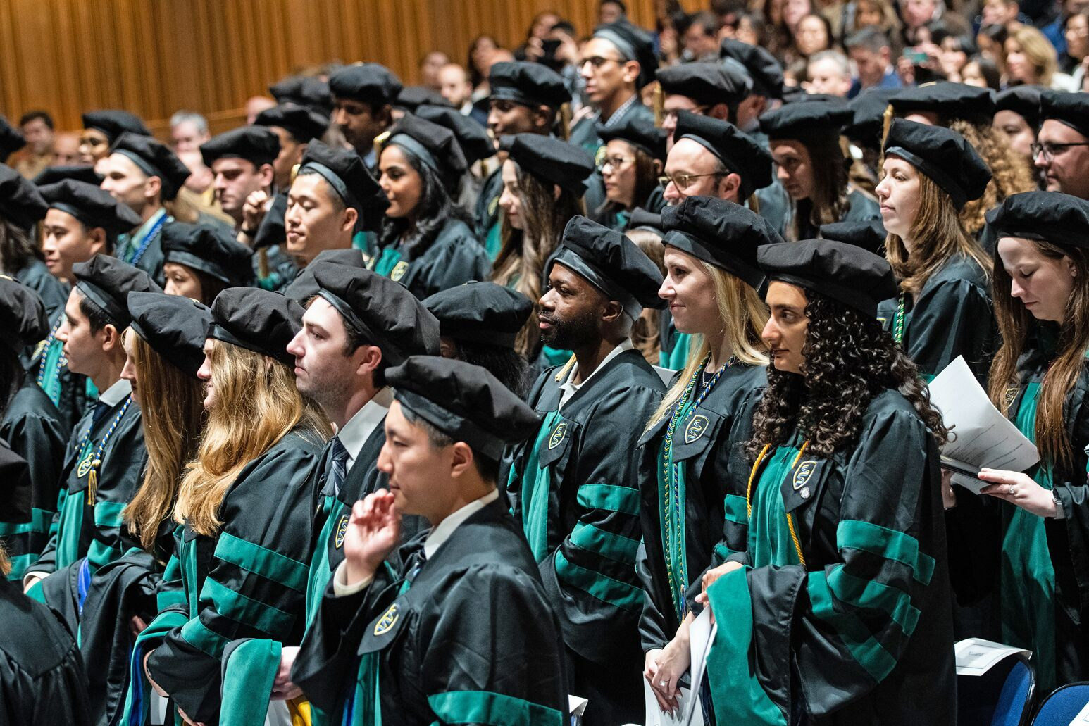 The Zucker School of Medicine's graduating class featured 96 students, including three MD/PhD candidates, the school's first two MD/MPH candidates and the first two graduates of Hofstra's 4+4 BS/BA-MD program