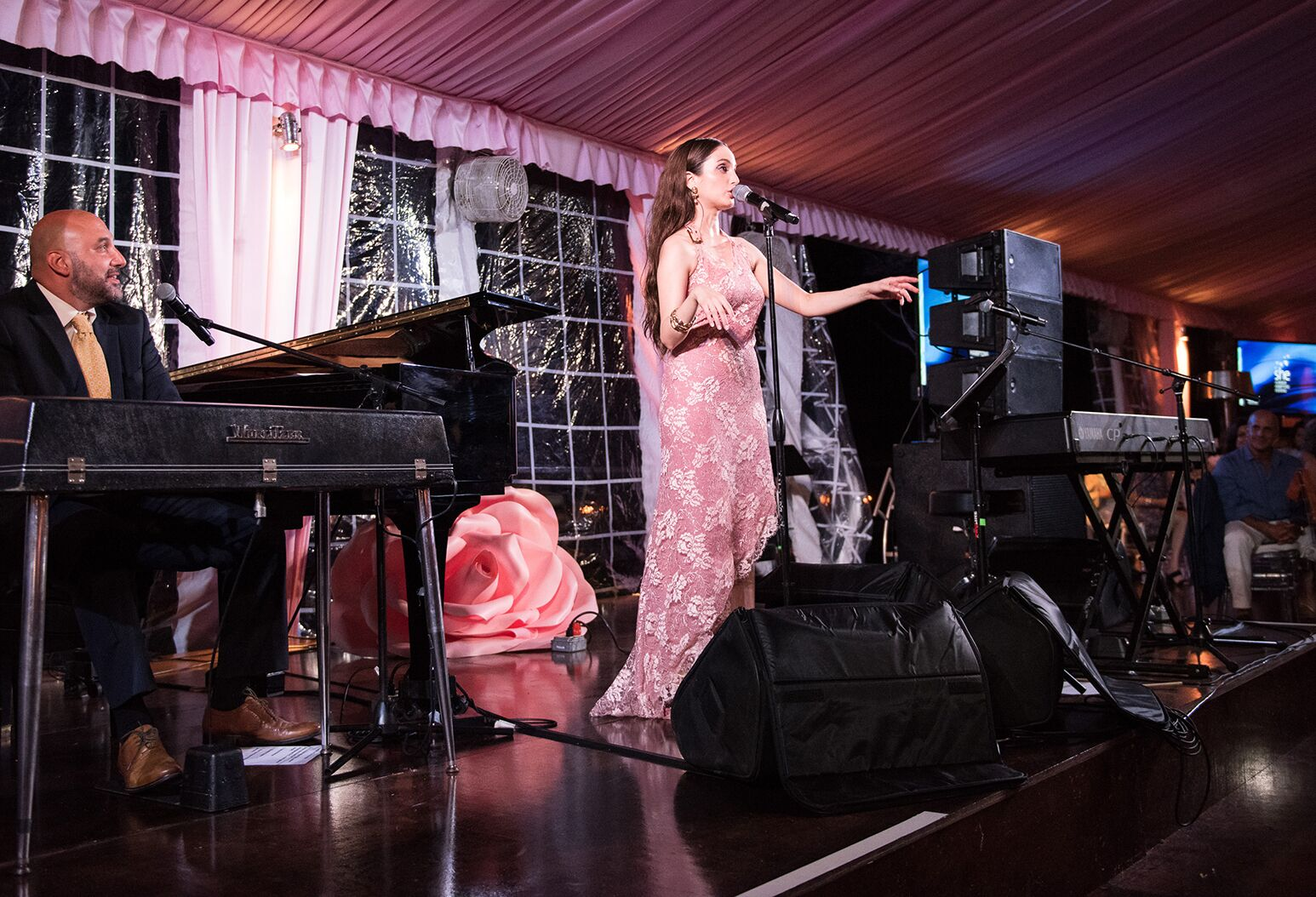 Alexa Ray Joel performs at Northwell Health's Summer Hamptons Evening on August 17 in Water Mill to benefit Northwell's Katz Institute for Women's Health. Credit: Ellen Wolff Photography/Northwell Health