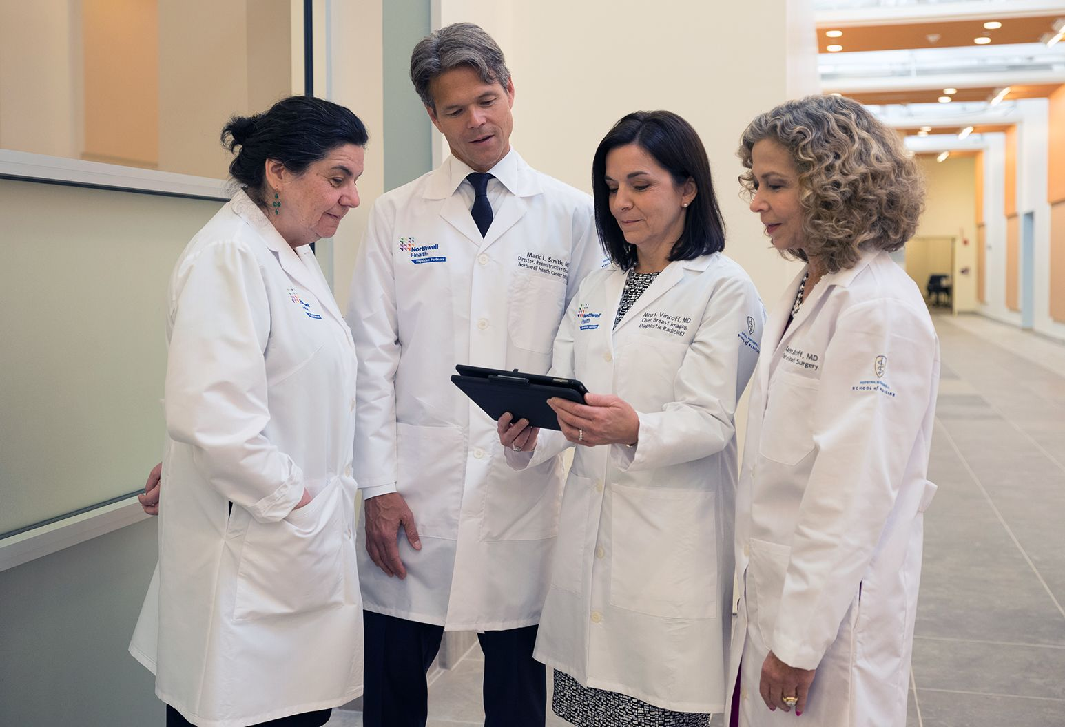 Northwell Health radiologists and clinicians consult on a case