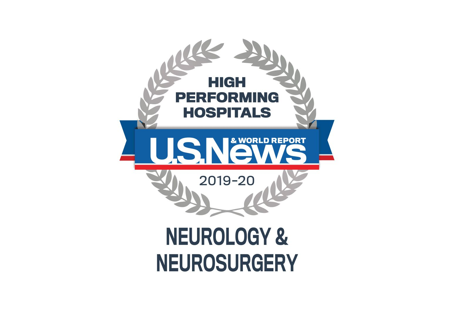 US News Badge for high performing hospitals in neurology and neurosurgery