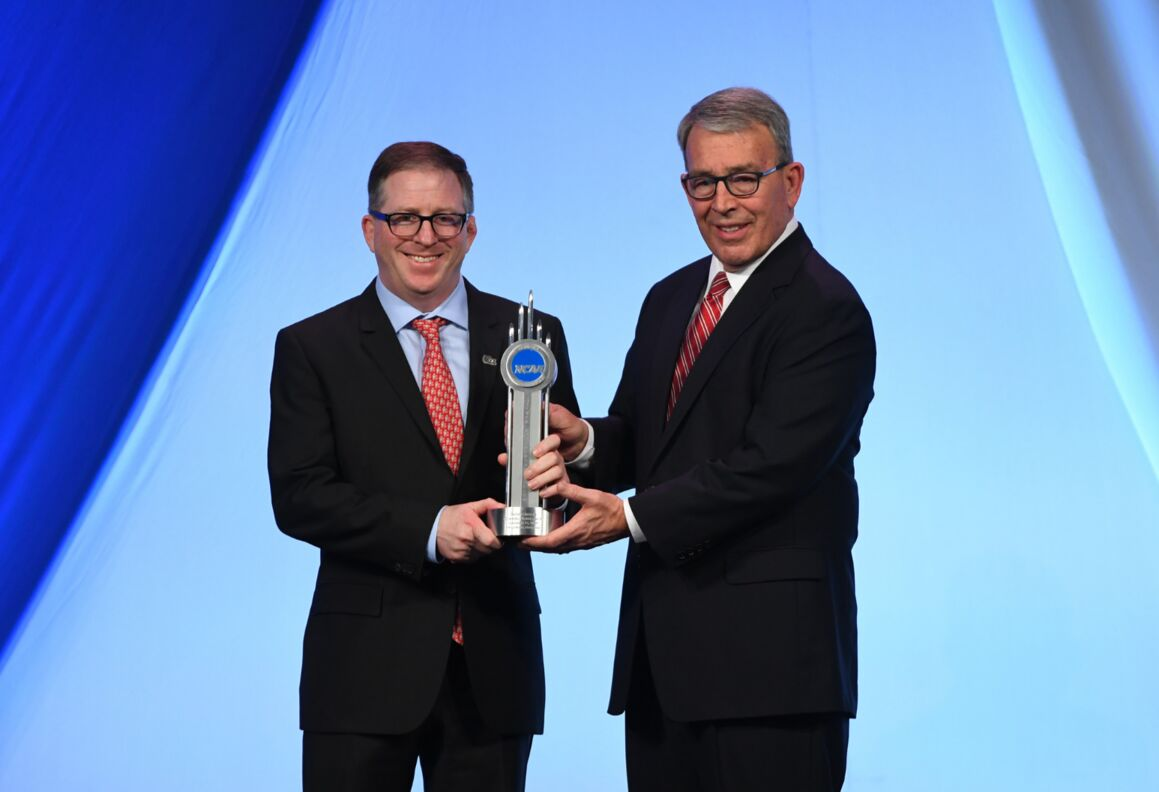 David Hirsch, DDS, MD, accepts NCAA award