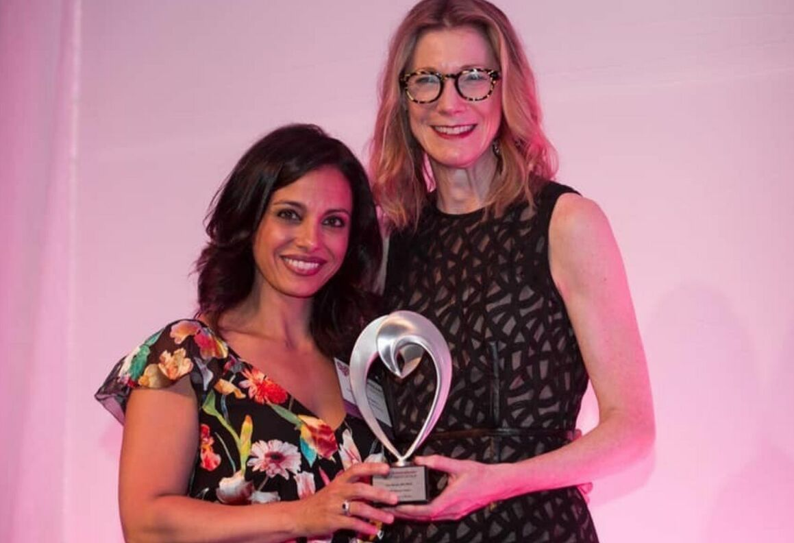 Tara Narula, MD, receives a 2019 Wenger Excellence in Media Award.