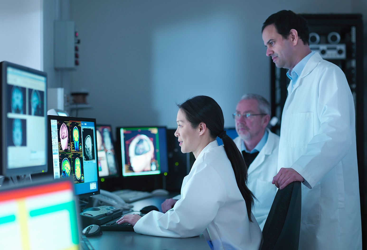 Clinicians review imaging
