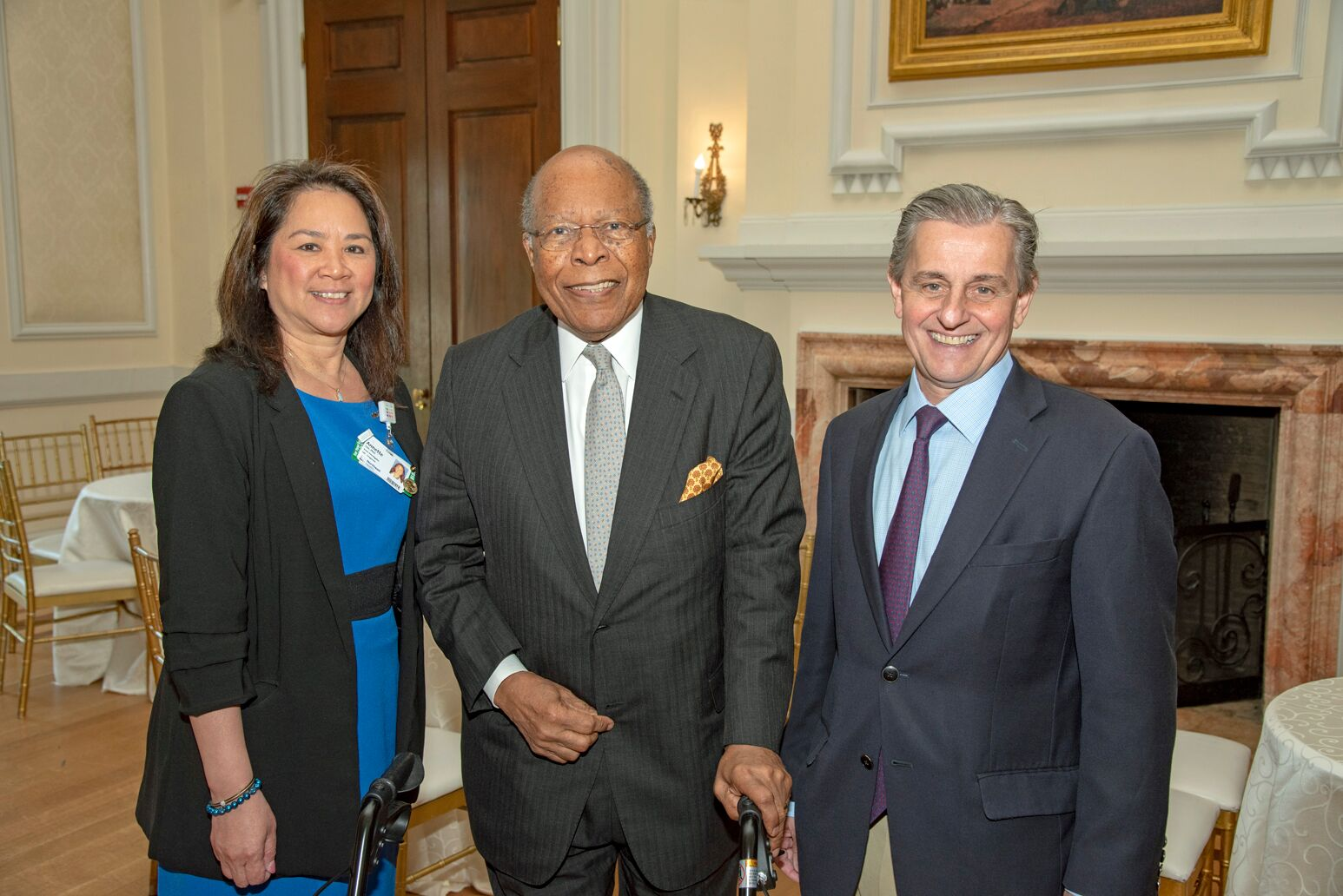 Annette T. Lee, PhD, (left) with Louis W. Sullivan, MD, and Kevin. J. Tracey, MD