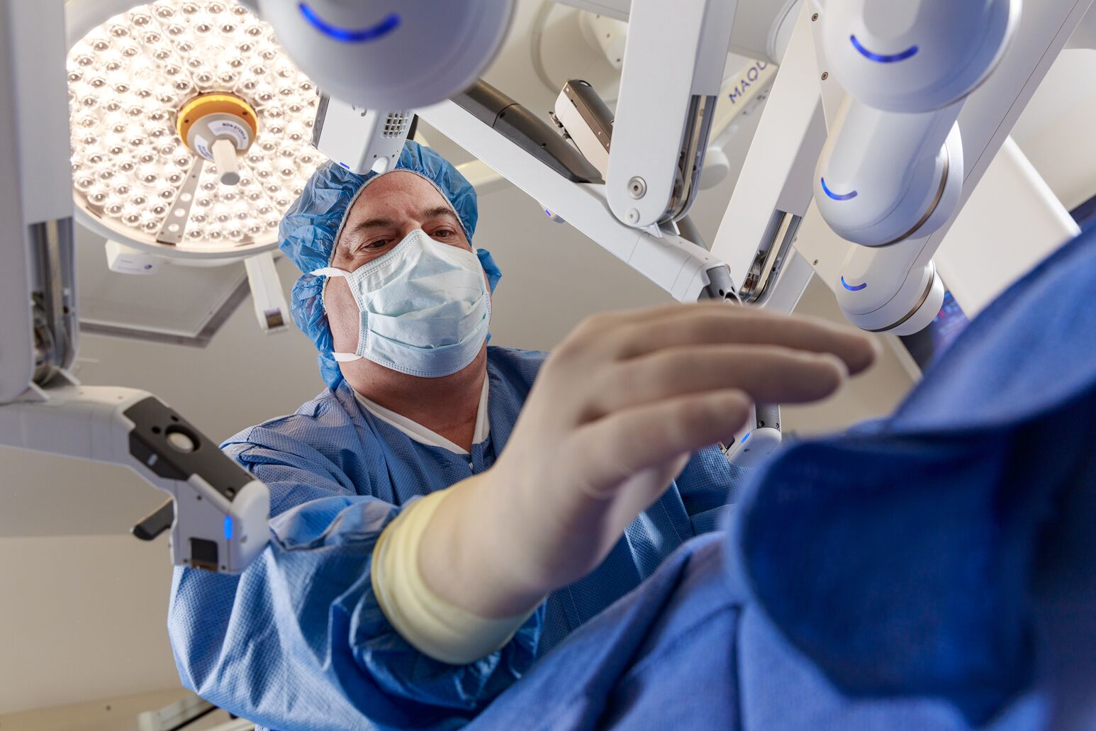 An image of a doctor in surgery.