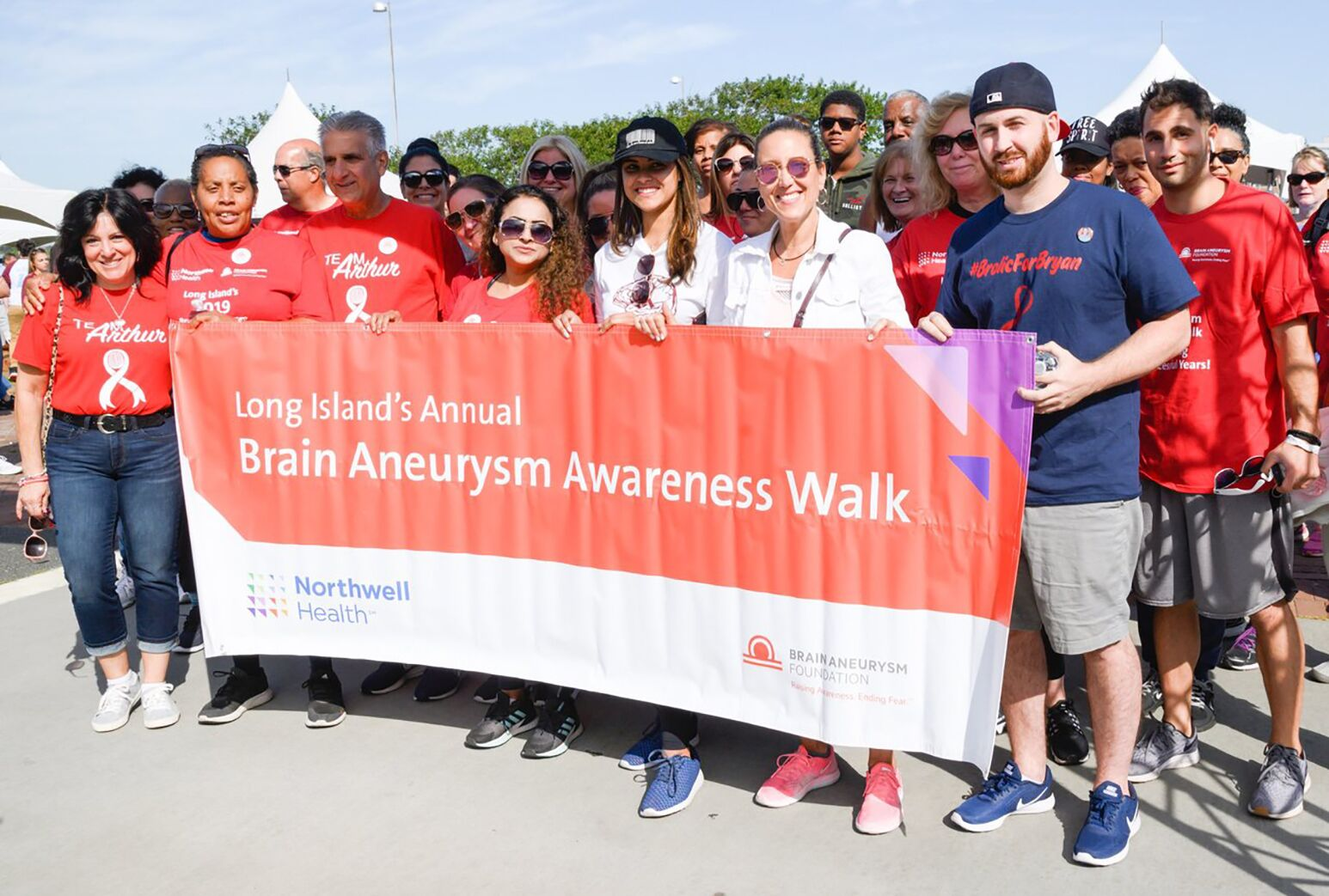 Scenes from the annual Brain Aneurysm Awareness Walk