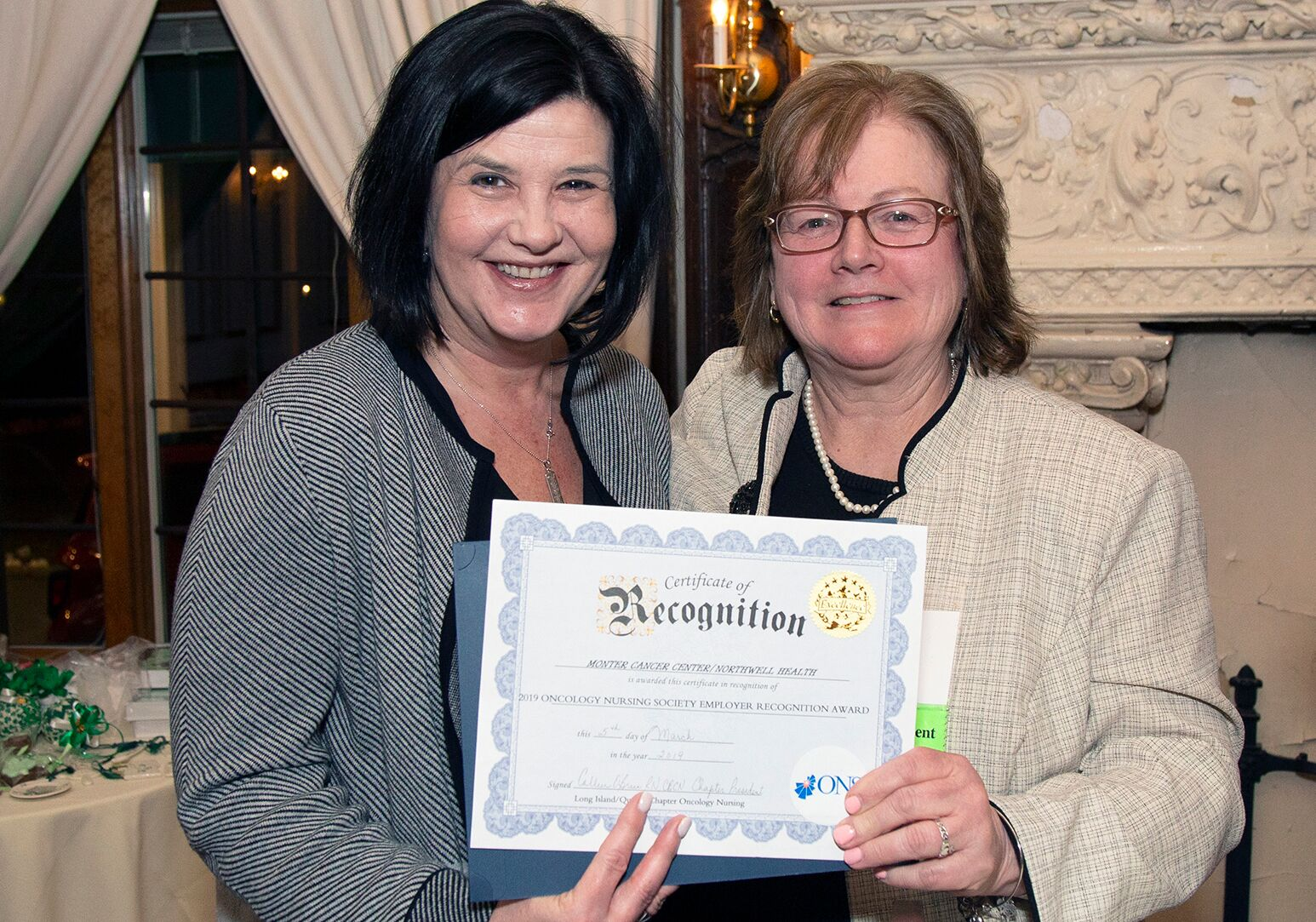 Oncology Nurses Society recognition award