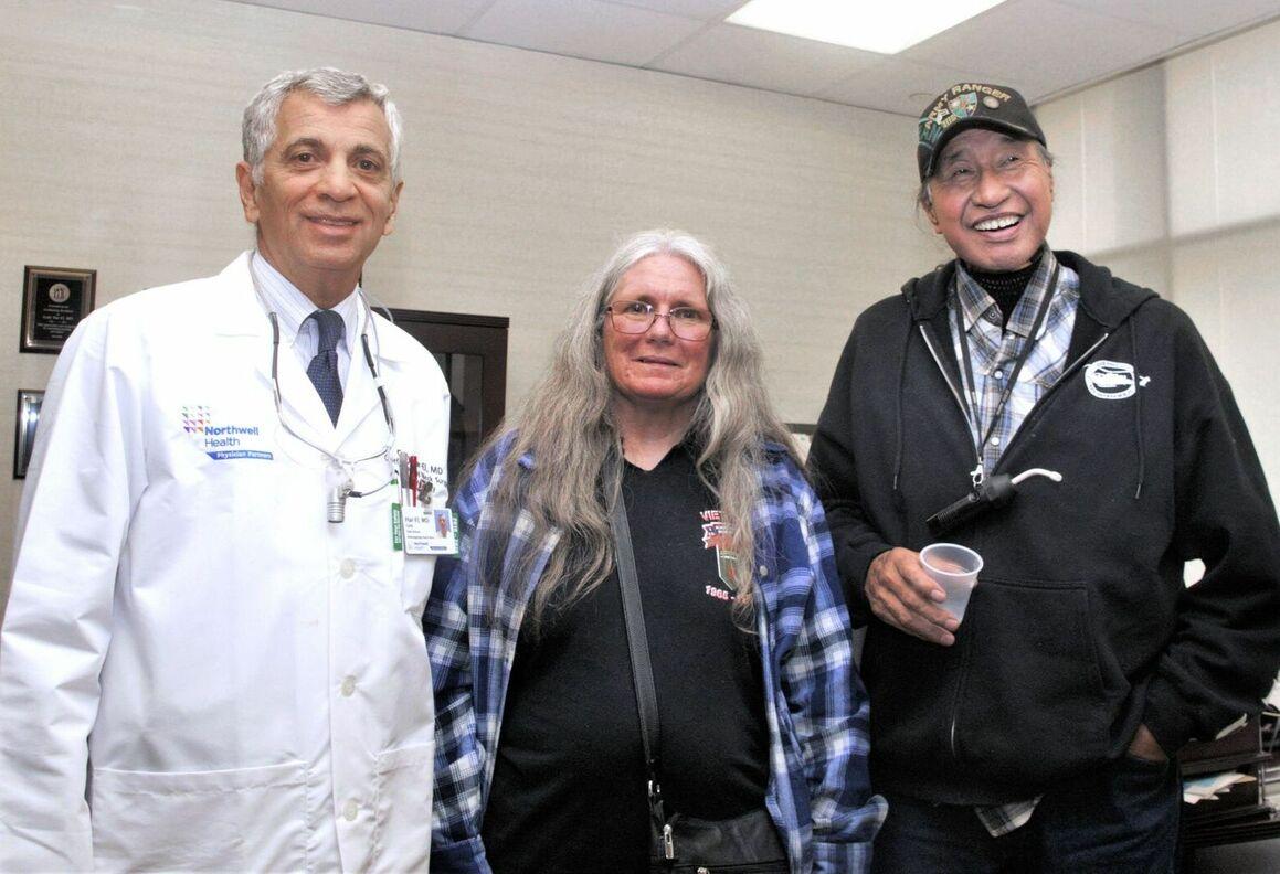 From left: Gady Har-El, MD, Kathy Salmon, Vaughn Isaacs.