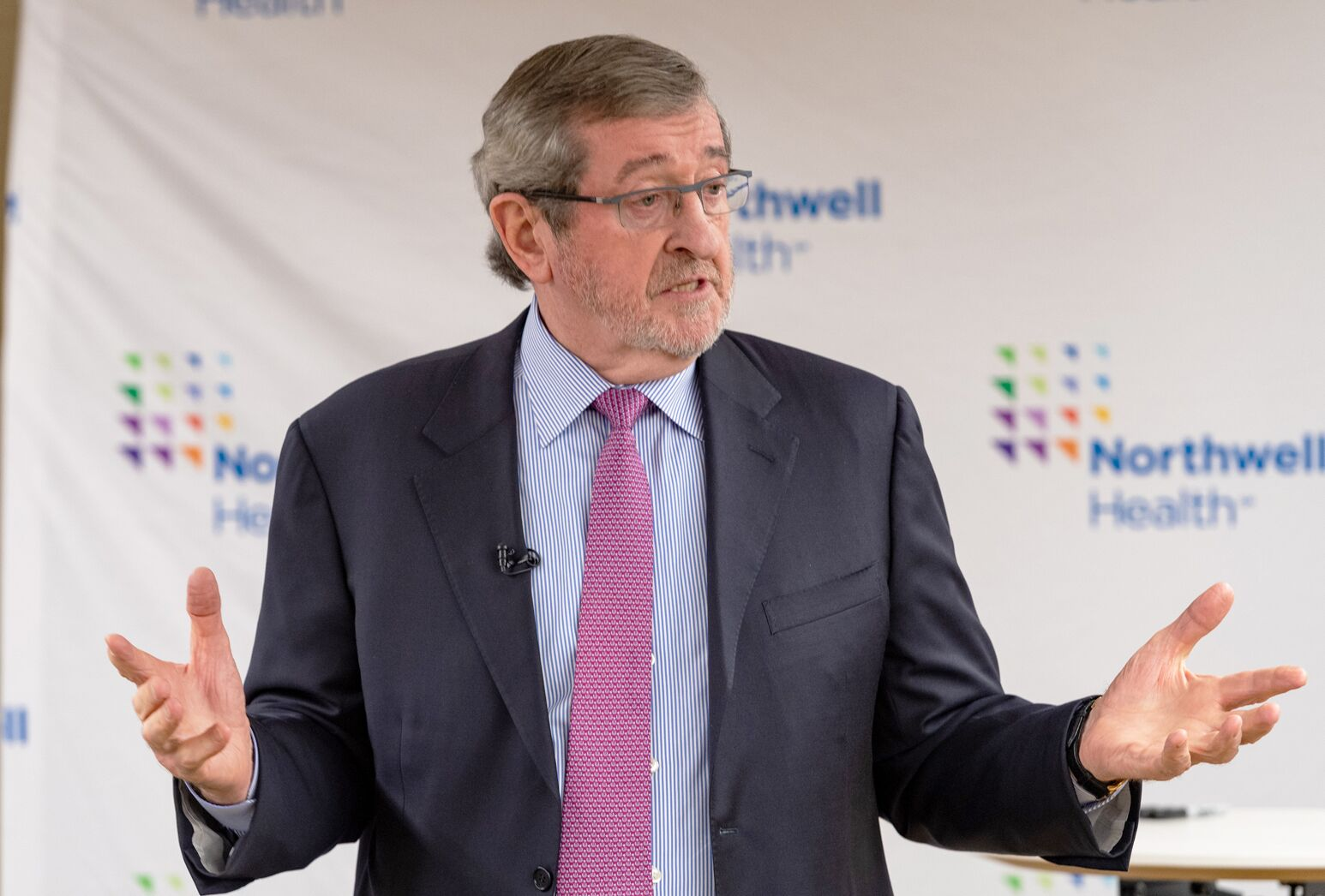 Michael Dowling speaks about the health care in 2019 at an event.