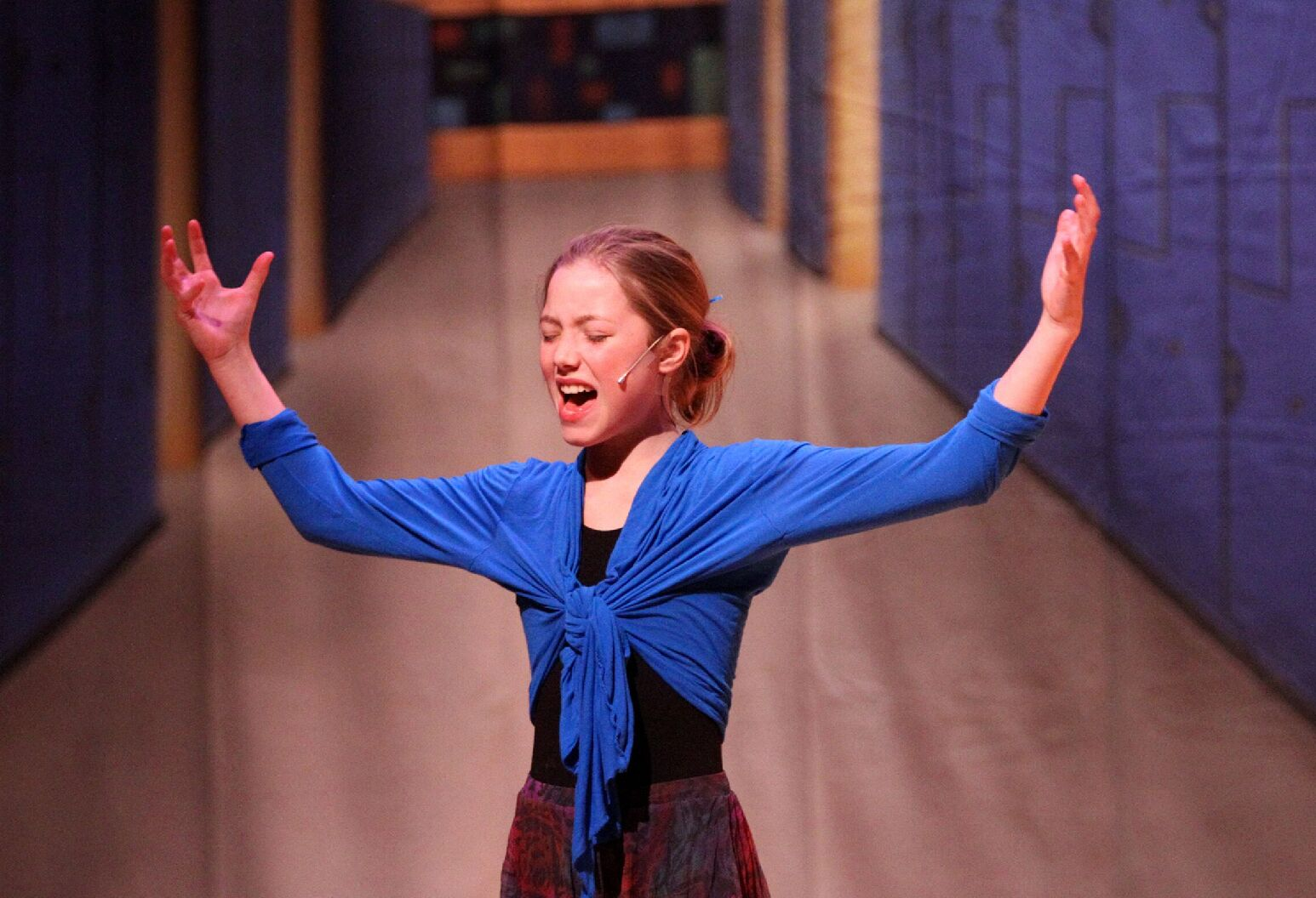 Annika performing in a play