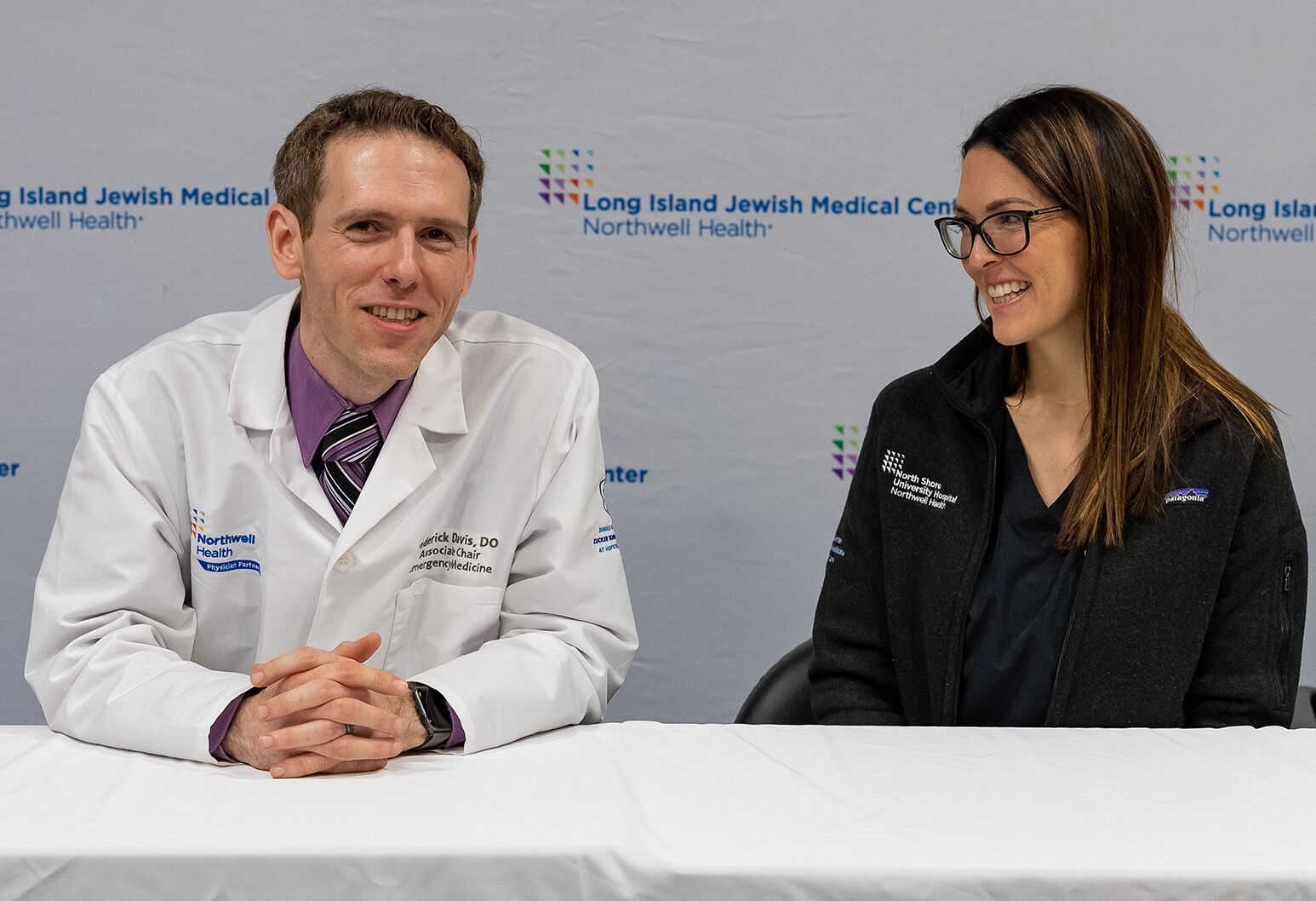 Dr Davis (left), Dr. Turrin discuss guarding against measles contamination during the holiday weekend get-togethers.