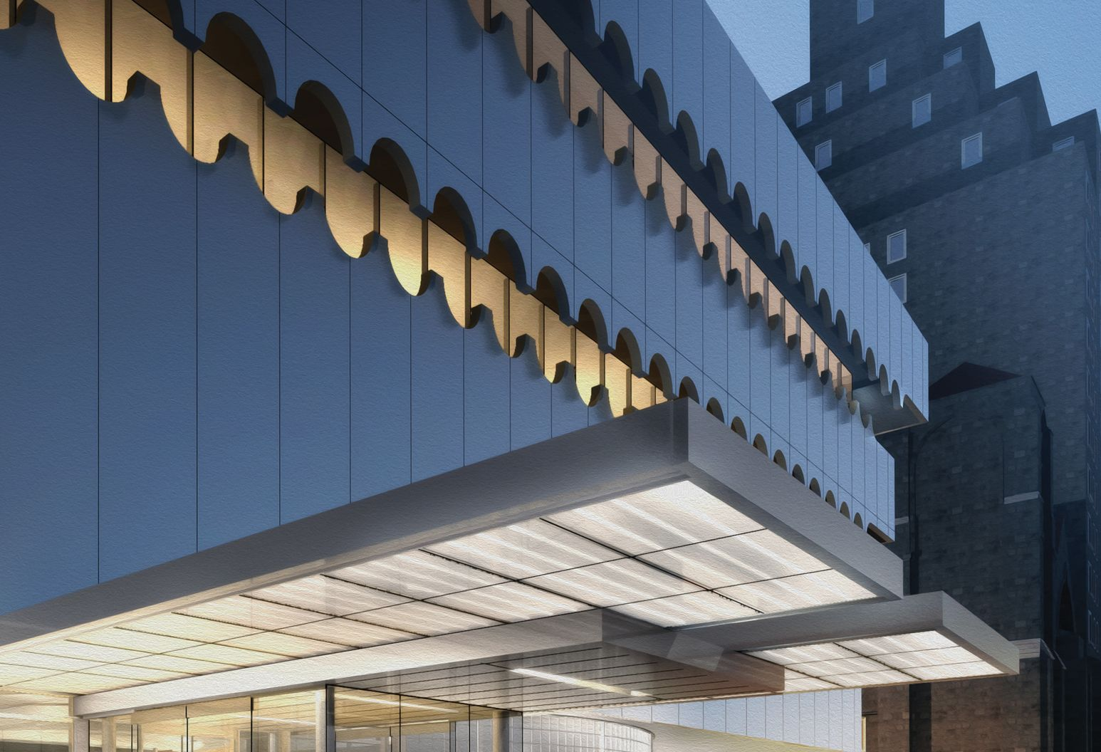 Exterior shot of Lenox Health Greenwich Village, an emergency clinic in NYC, which is a part of the award-winning Northwell Health.