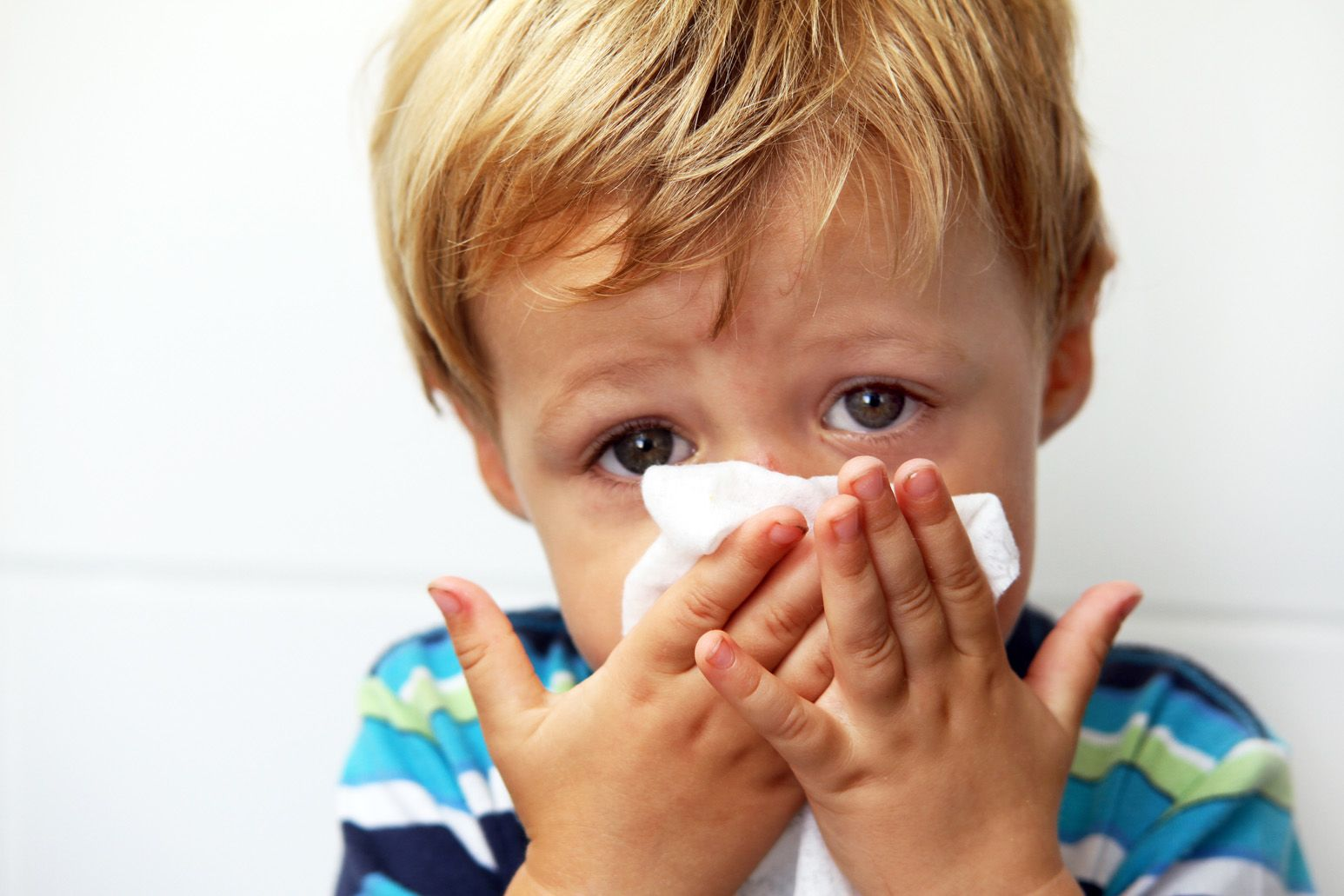A child blows his nose. Charles Schleien, MD, tells how you can safeguard against the adenovirus that is spreading across the East Coast.