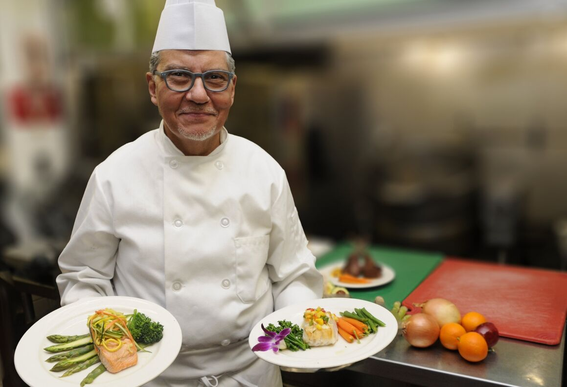 Chef Georges Masraff, executive chef at Lenox Hill Hospital