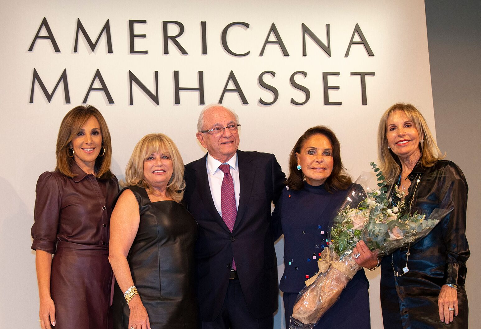 From left: Rosanna Scotto, Ruth Slade, Roger and Charlotte Blumencranz, Dayle Katz.