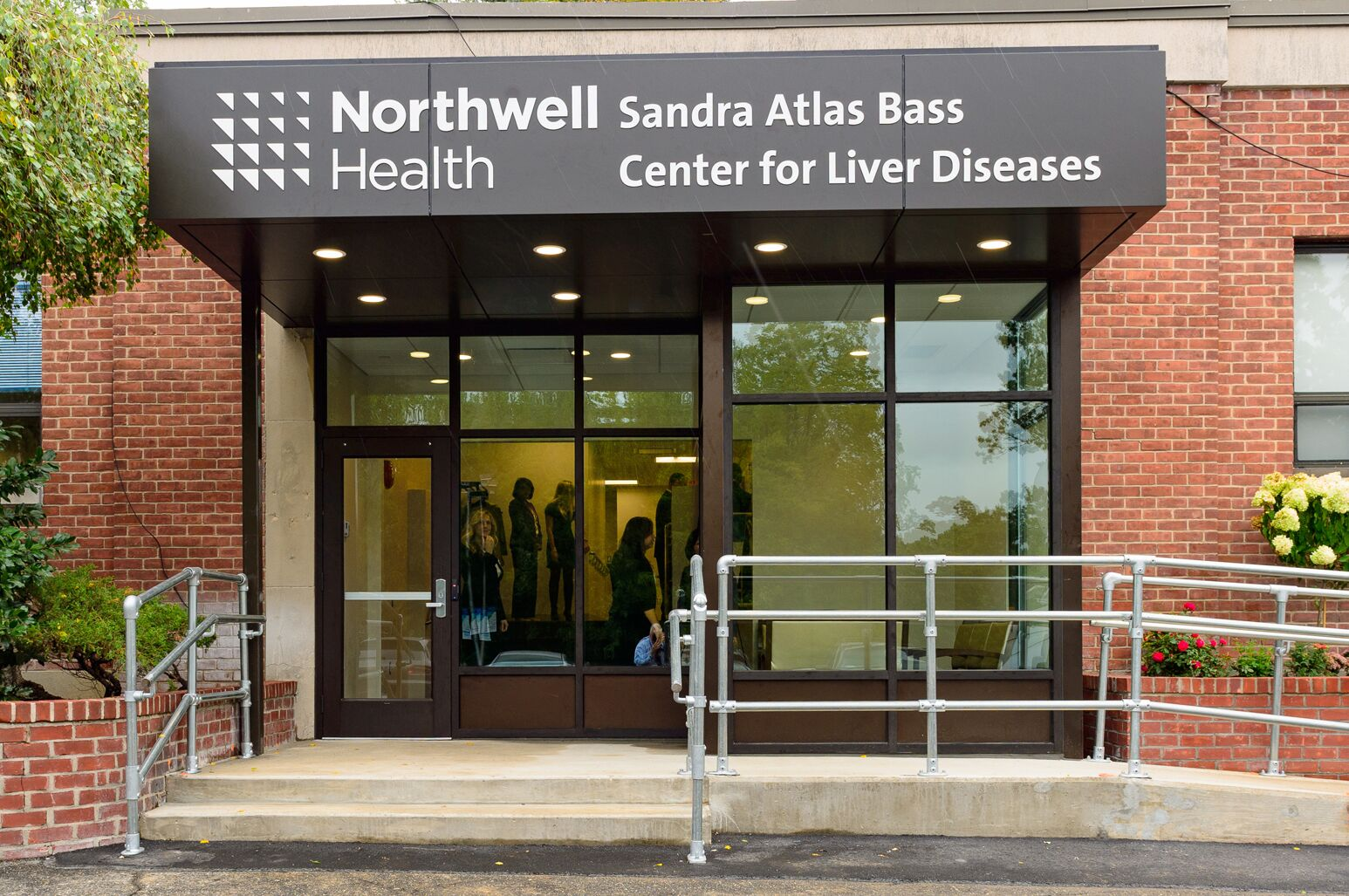 Outside the Sandra Atlas Bass Center for Liver Diseases
