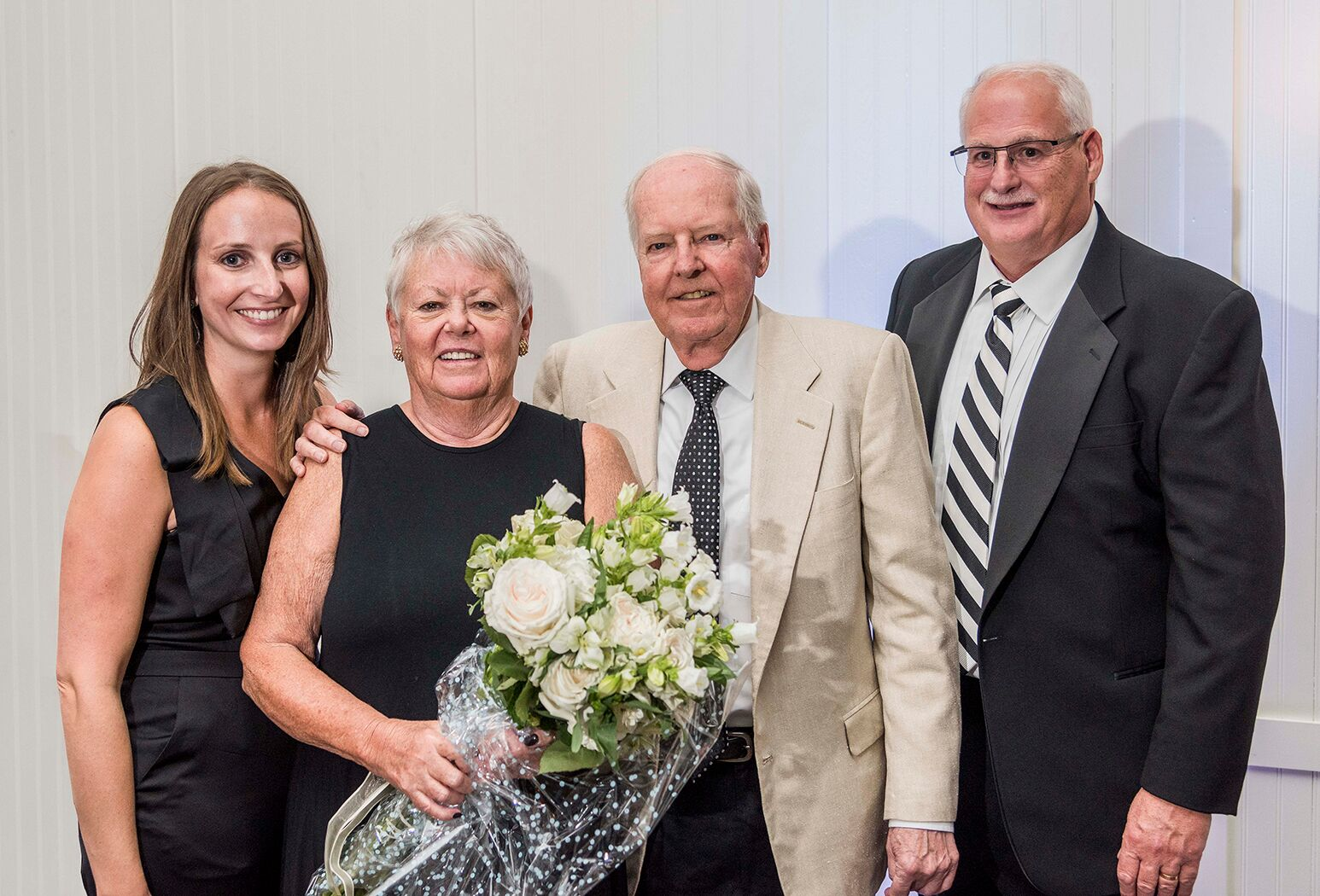 From left: Samantha Vigliotta (vice president, Peconic Bay Medical Center), Emilie Corey (chair, Peconic Bay Medical Center Foundation Board of Directors), Michael Corey and Andrew J. Mitchell (president & CEO, Peconic Bay Medical Center).