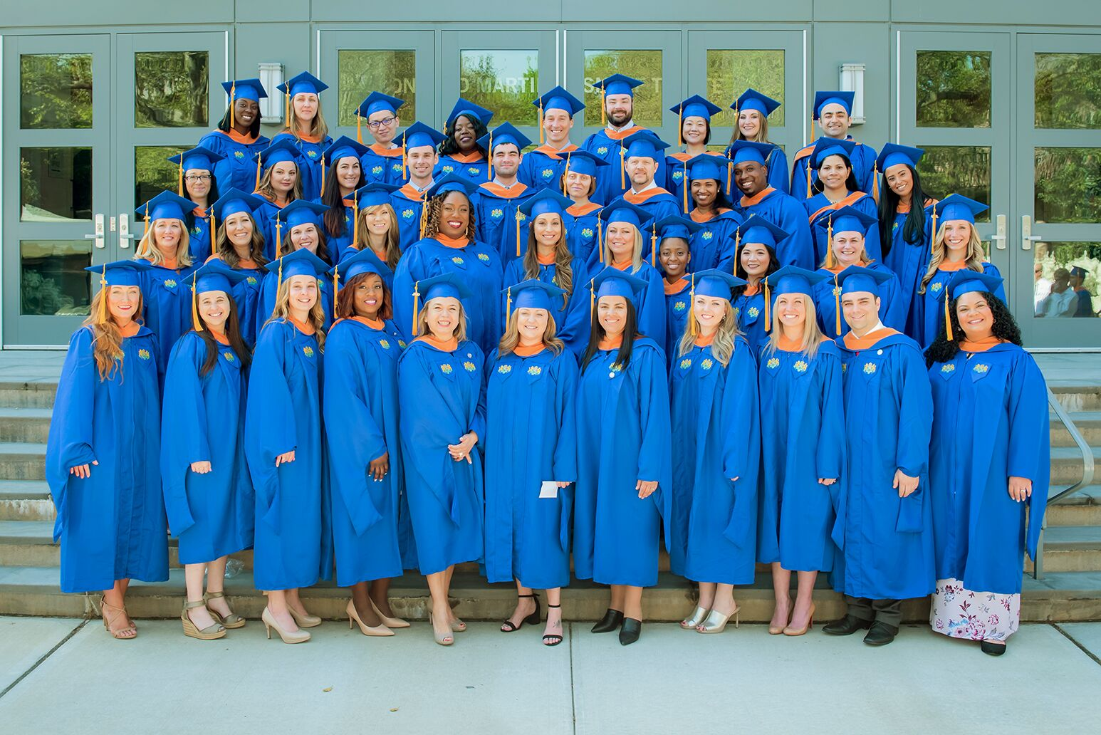 Convocation day for the 52 students who earned graduate degrees or advanced certificates from the Hofstra Northwell School of Graduate Nursing and Physician Assistant Studies. Photo credit Arthur Fredericks/Hofstra University.