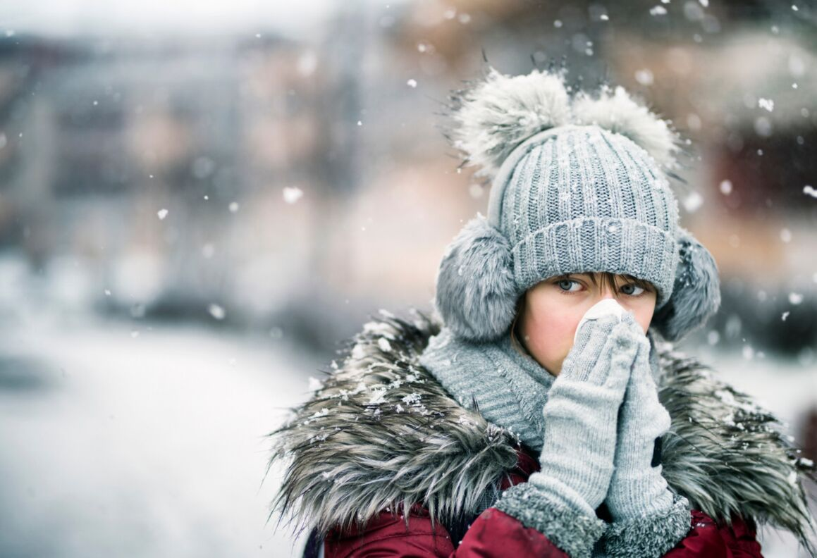 Freezing weather