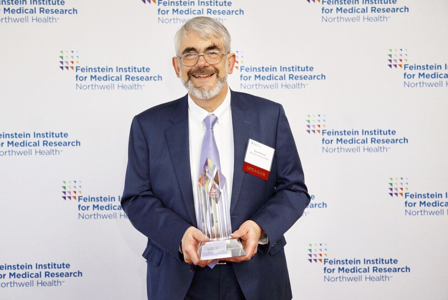 Daniel Kastner, MD, PhD, the National Institutes of Health's (NIH) National Human Genome Research Institute scientific director, following the presentation of the Ross Prize in Molecular Medicine.