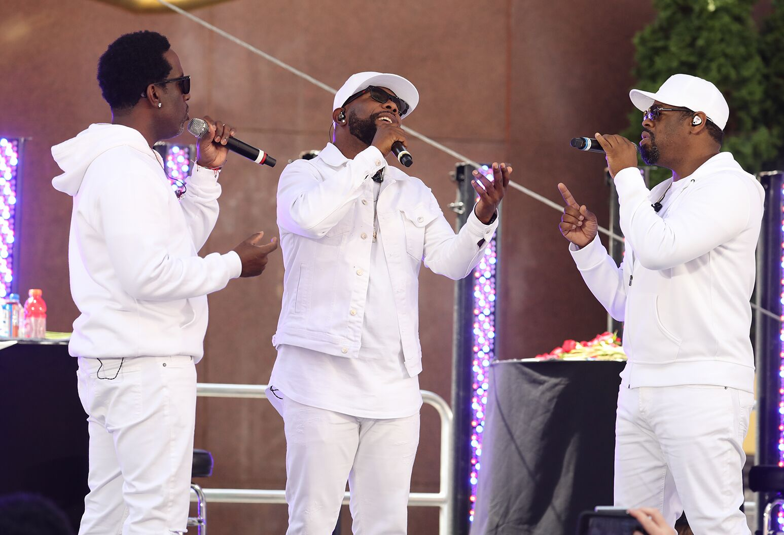 Boyz II Men performing at Side by Side
