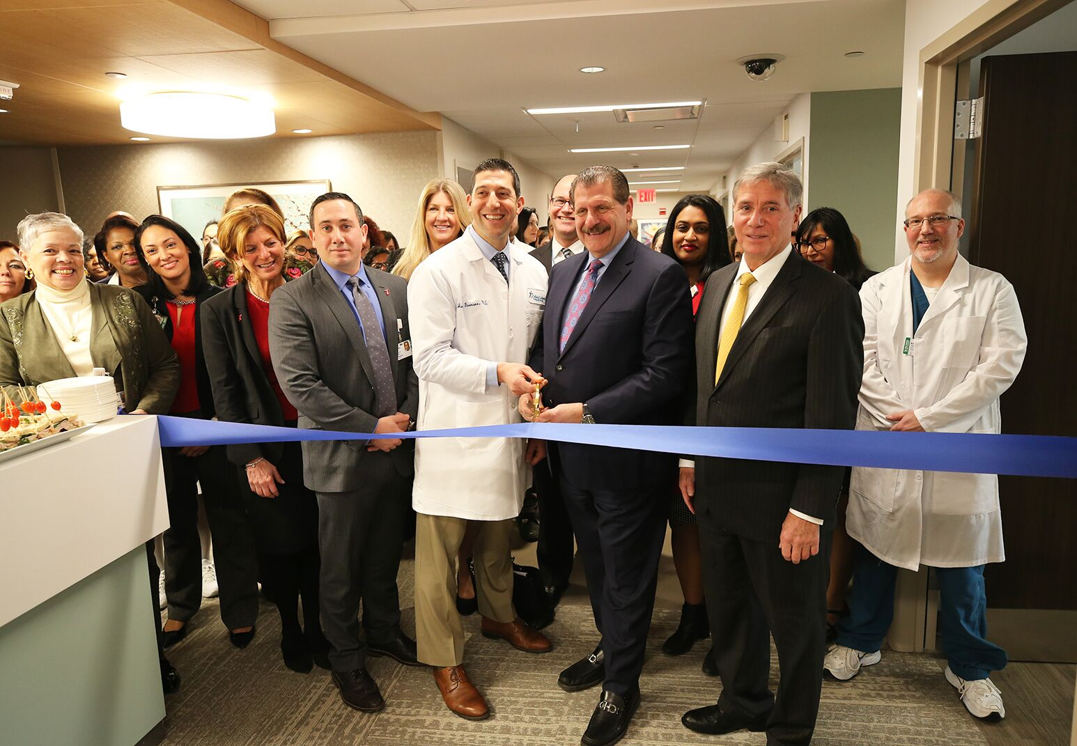 A ribbon cutting for the Orthopedic Hospital at LIJ Valley Stream.
