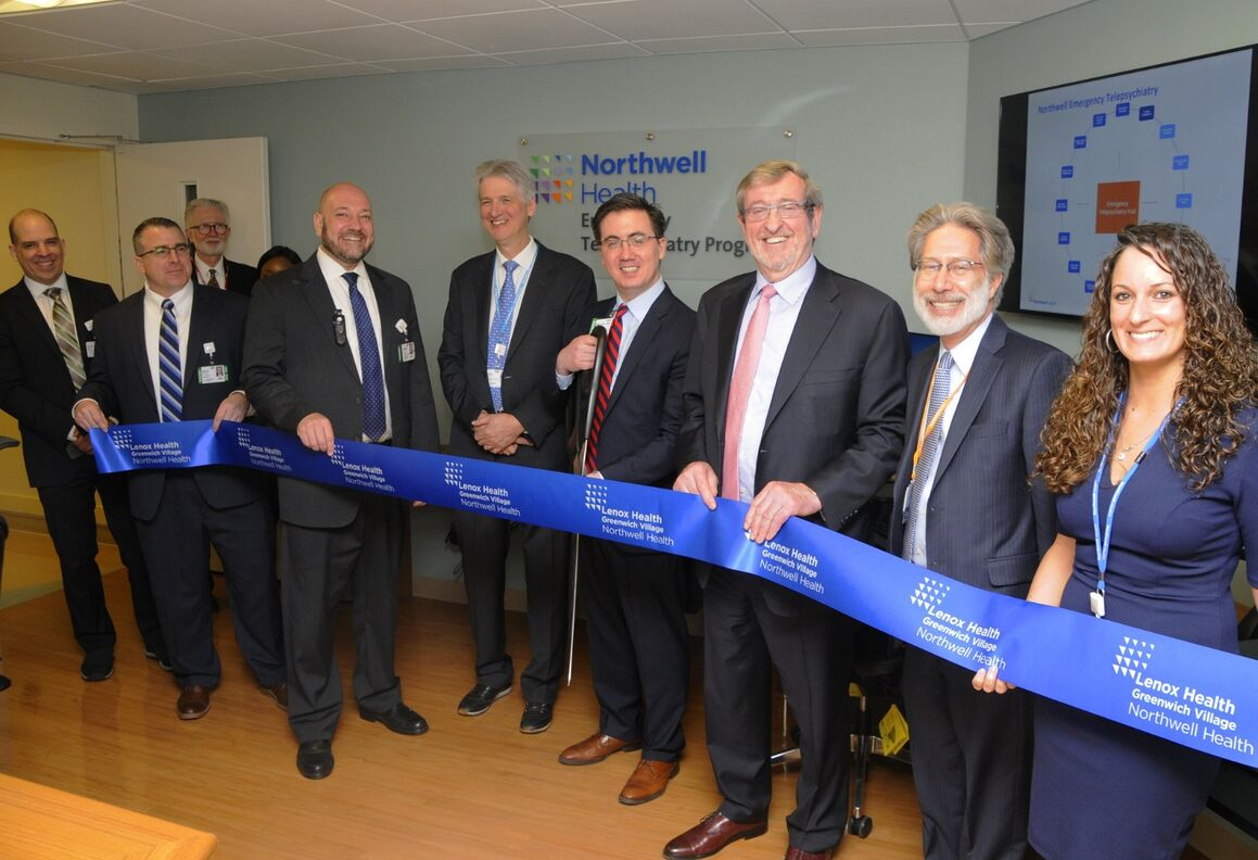Northwell Health leaders open new emergency telepsychiatry hub at Lenox Health Greenwich Village.