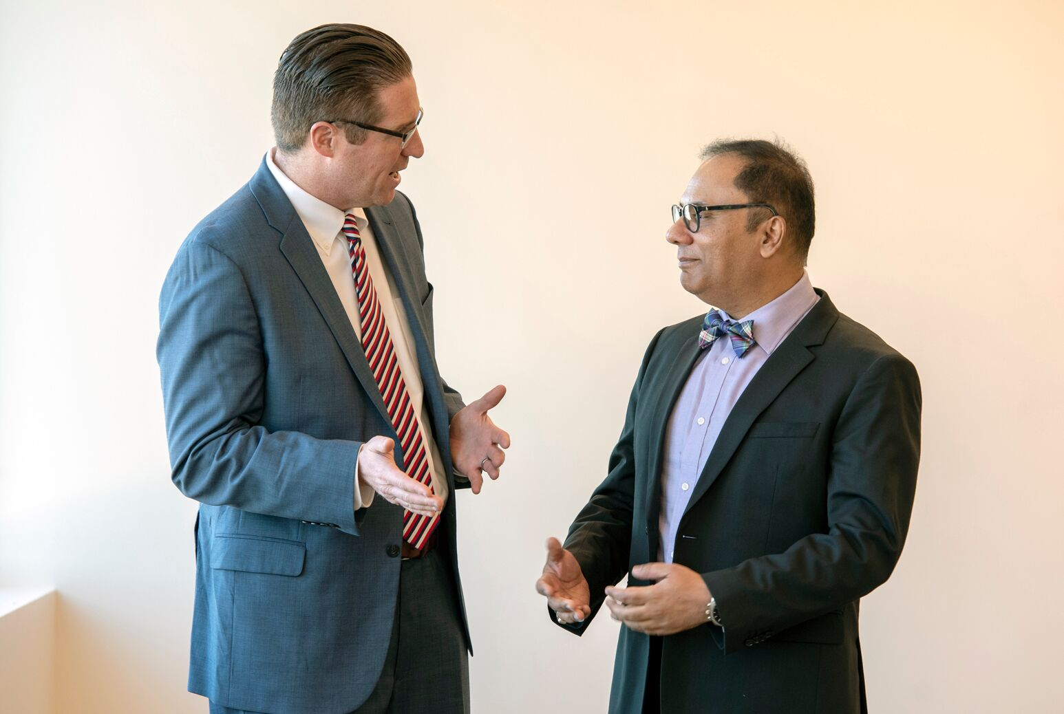 Matthew Weiss, MD, (left) with Deputy Physician-in-Chief and Director of Medical Oncology Wasif Saif, MD