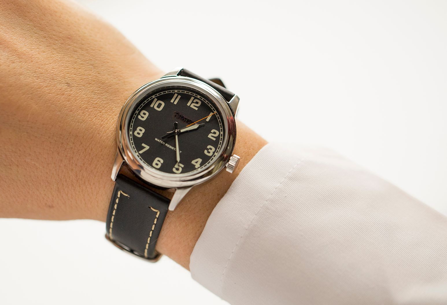 A man with a wristwatch
