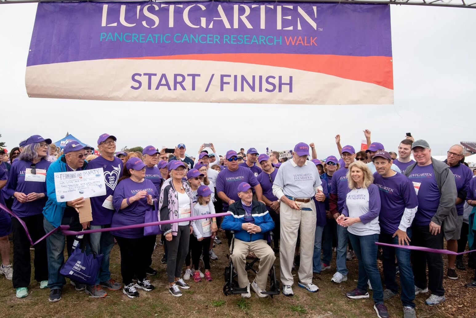 Participants at the start line for the Lustgarten Pancreatic Cancer Research Walk. The Northwell Health Cancer Institute is a presenting sponsor for five walks in the New York metropolitan area this year.