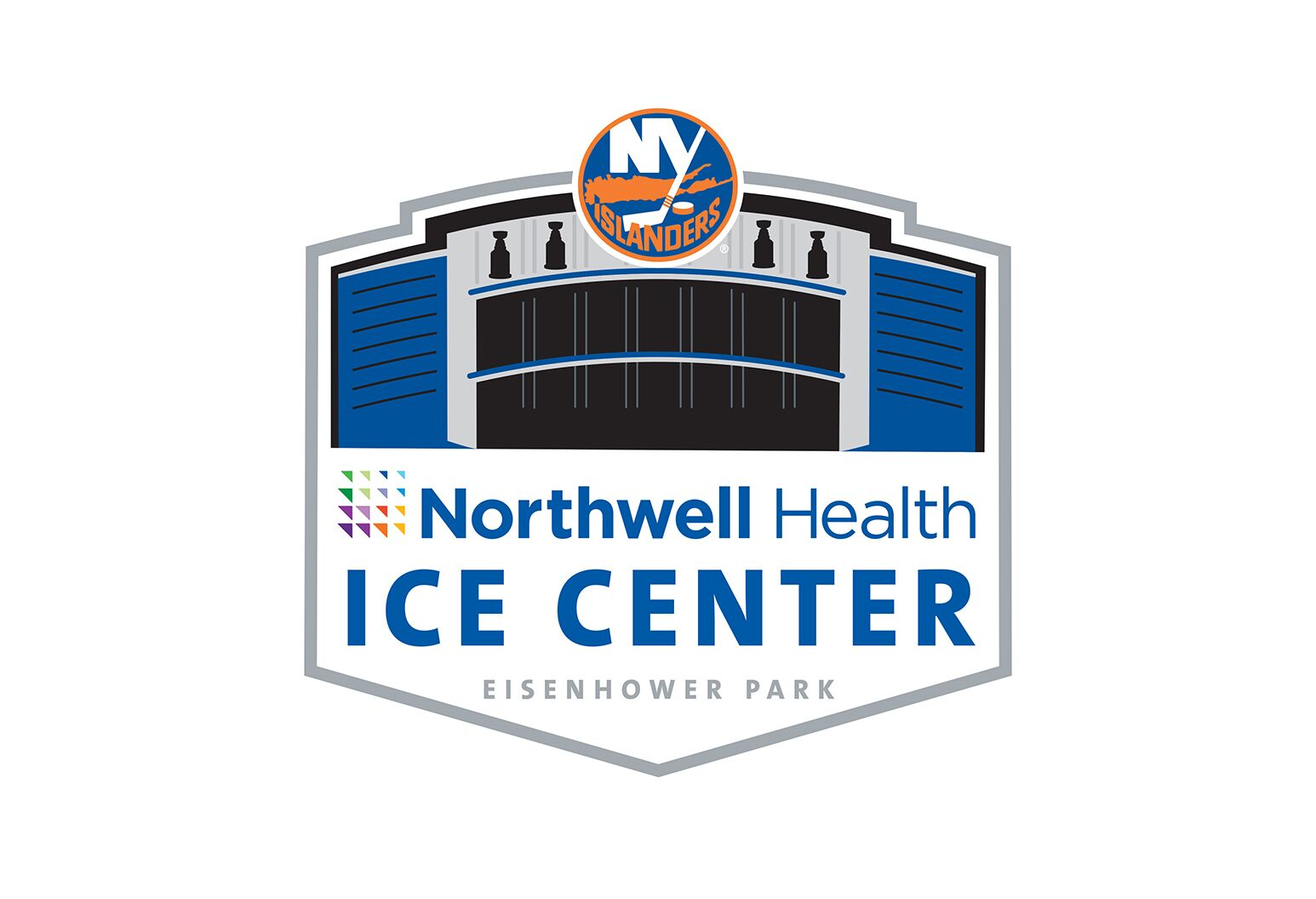 """Northwell Health Ice Center Eisenhower Park"" logo."