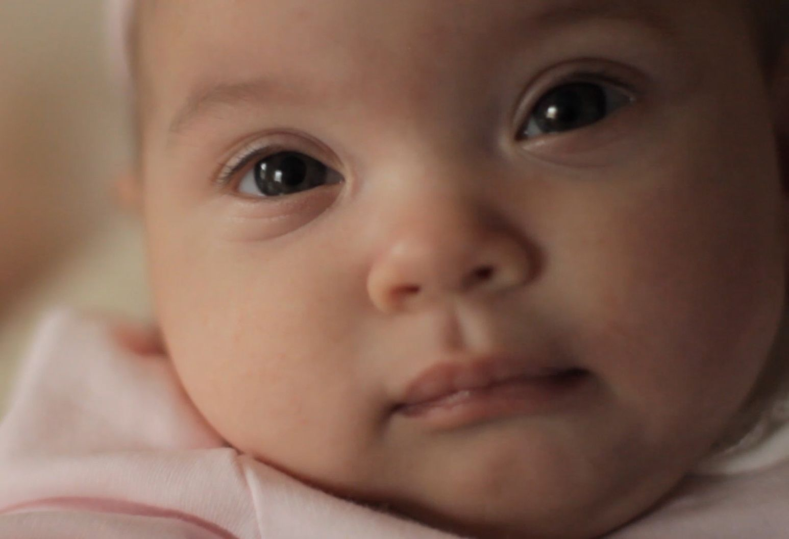 Close up picture of a baby's face