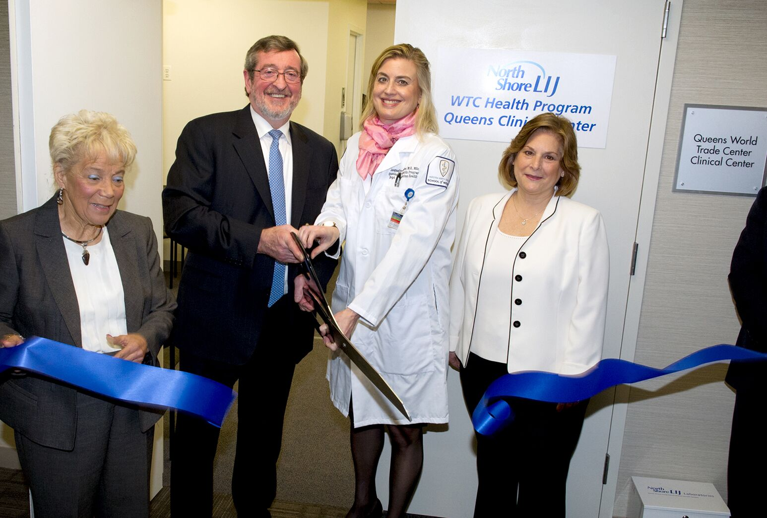 Michael Dowling and Dr. Jacqueline Moline at the Northwell Health WTC Clinic in Queens.