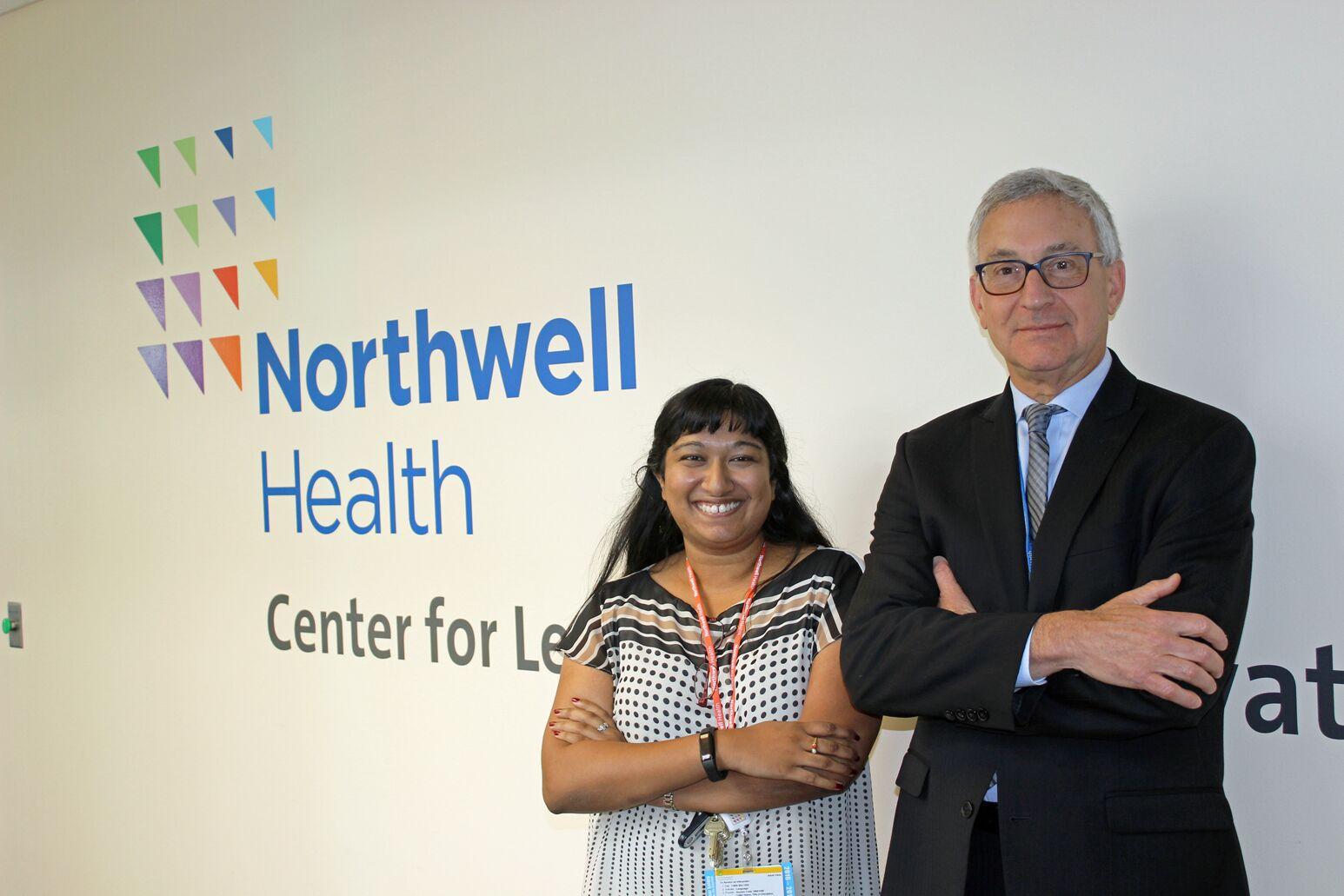 Arya Soman, MD, (left) and Bruce Goldman, LCSW
