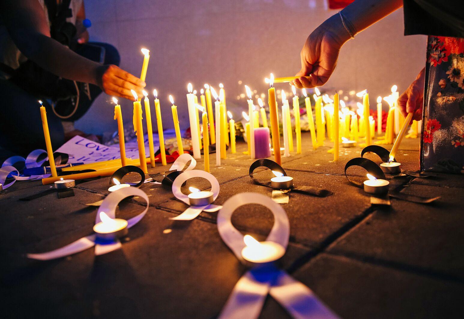 A candlelight vigil