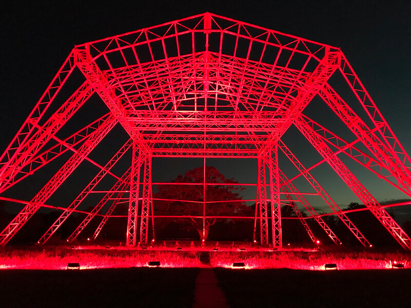 Fineline Glastonbury Pyramid in red IMG_6321