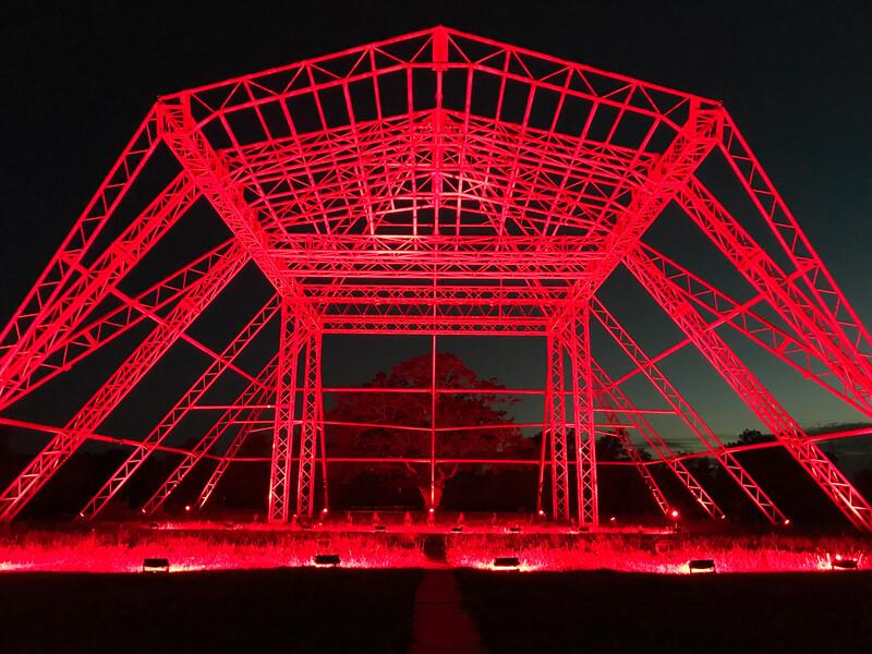 Fineline Glastonbury Pyramid in red IMG_6321